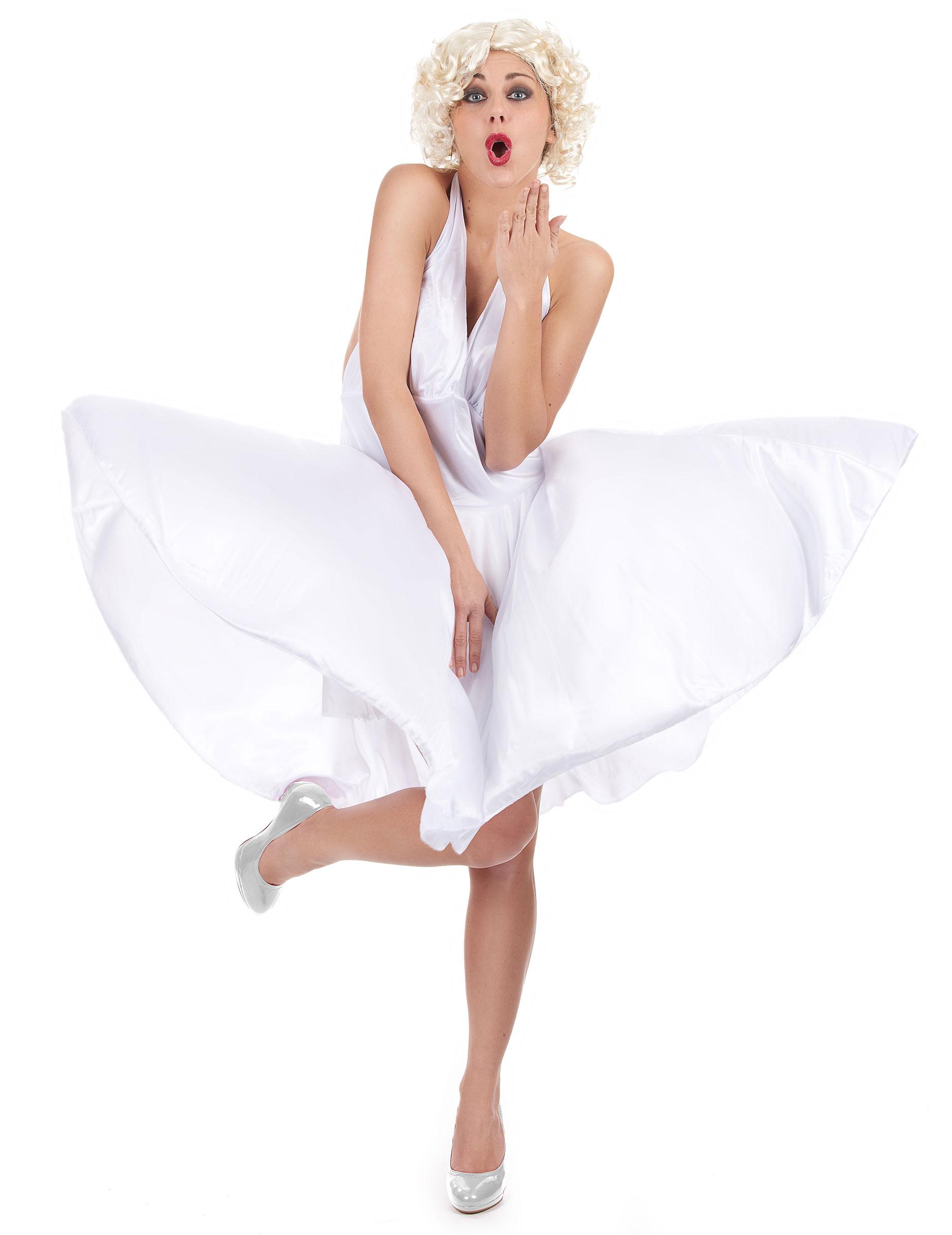 Marilyn Kostüm für Damen weiß 4576