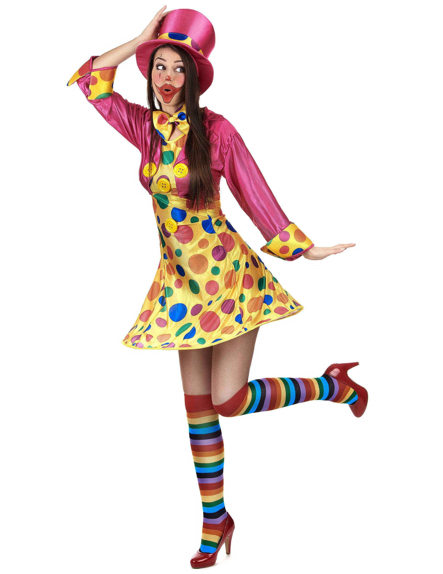 Neckisches Clown Kostum Fur Damen Bunt Kostume Fur Erwachsene Und