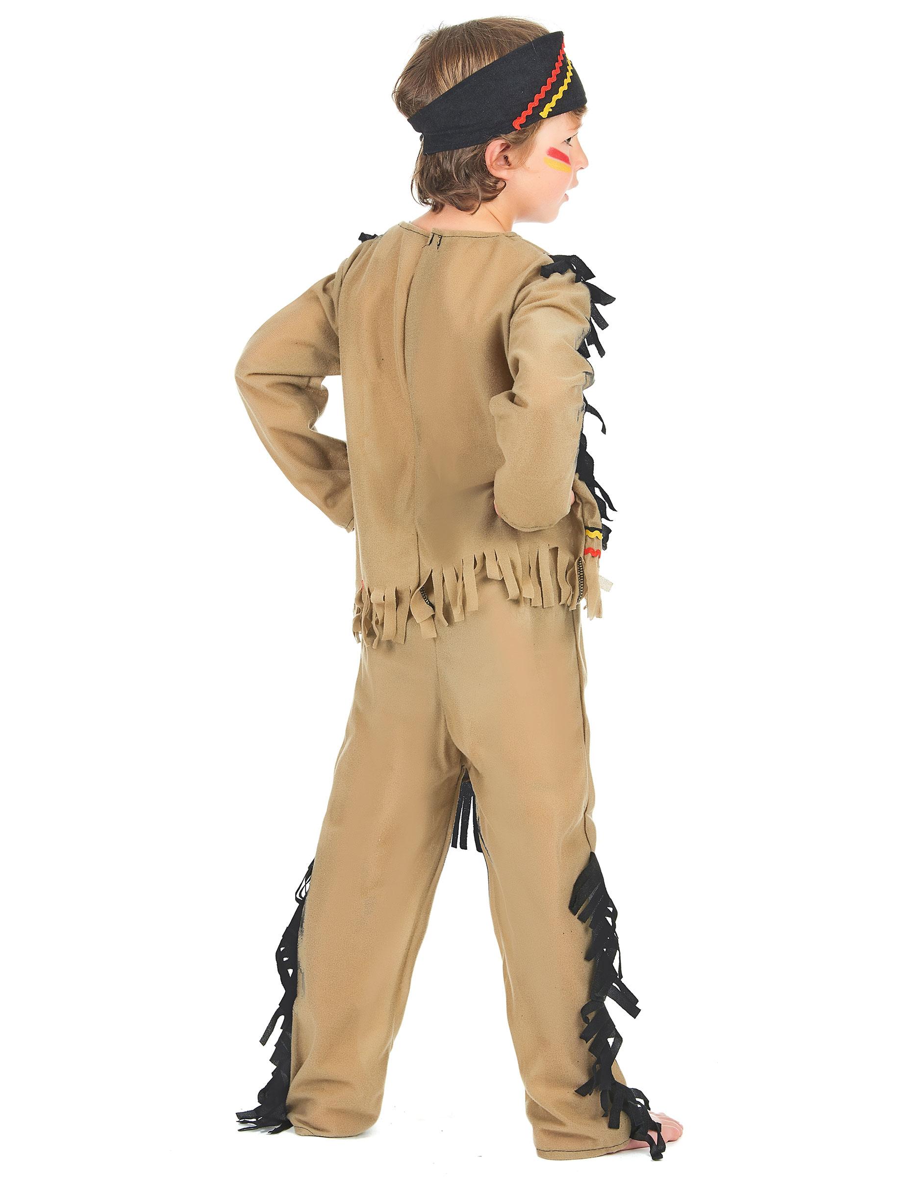 Indianer Kostum Fur Jungen 3 Teilig Beige Kostume Fur Kinder Und
