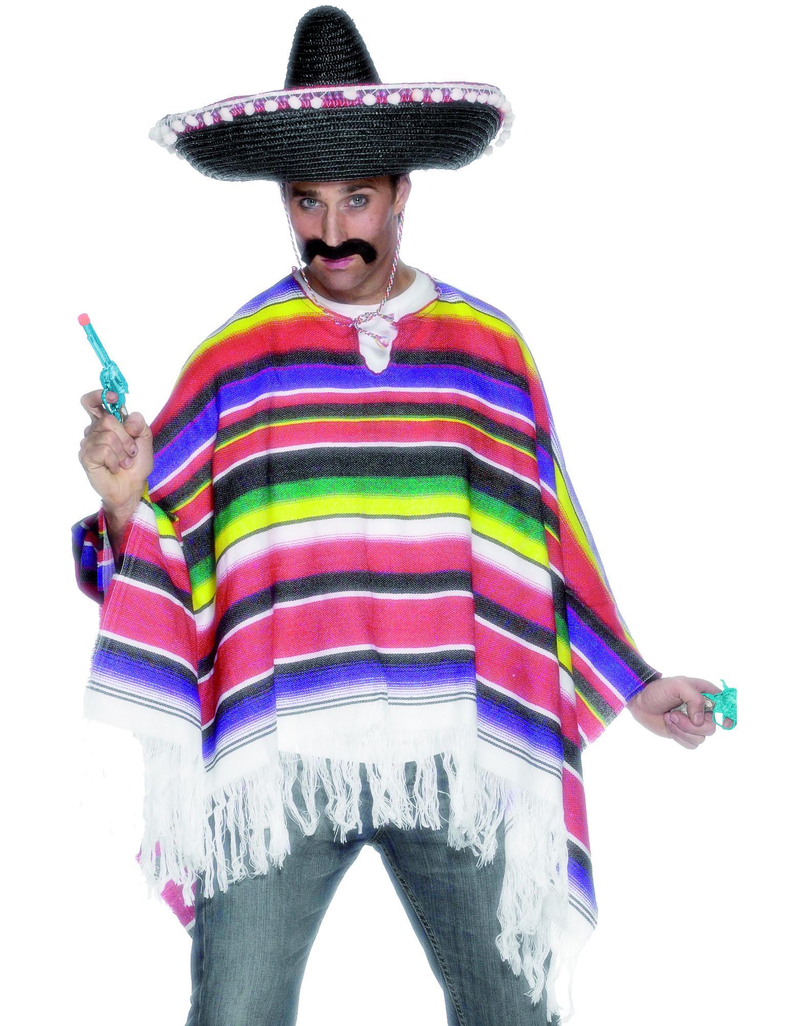 Mexikanischer Poncho für Herren. - M 4751