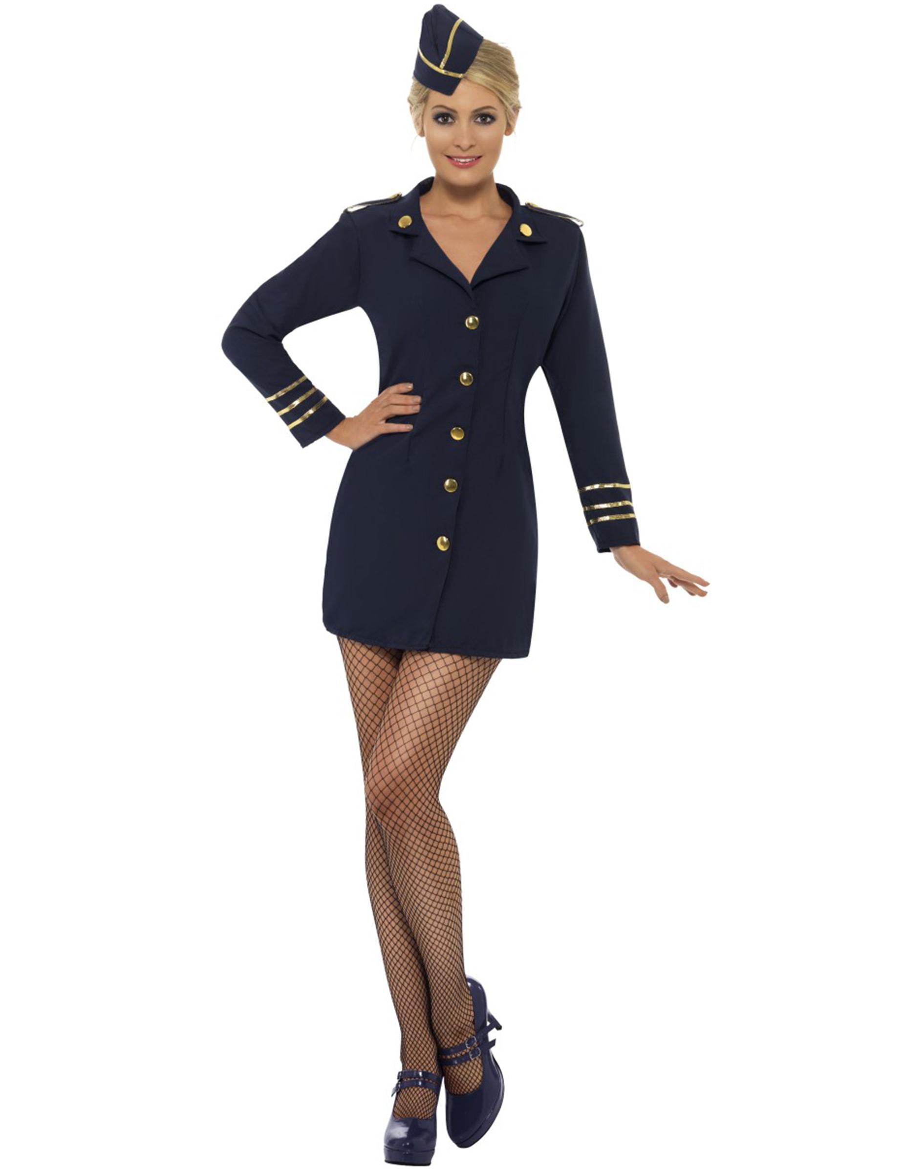 Sexy Stewardessen-Kostüm für Damen - S 6611