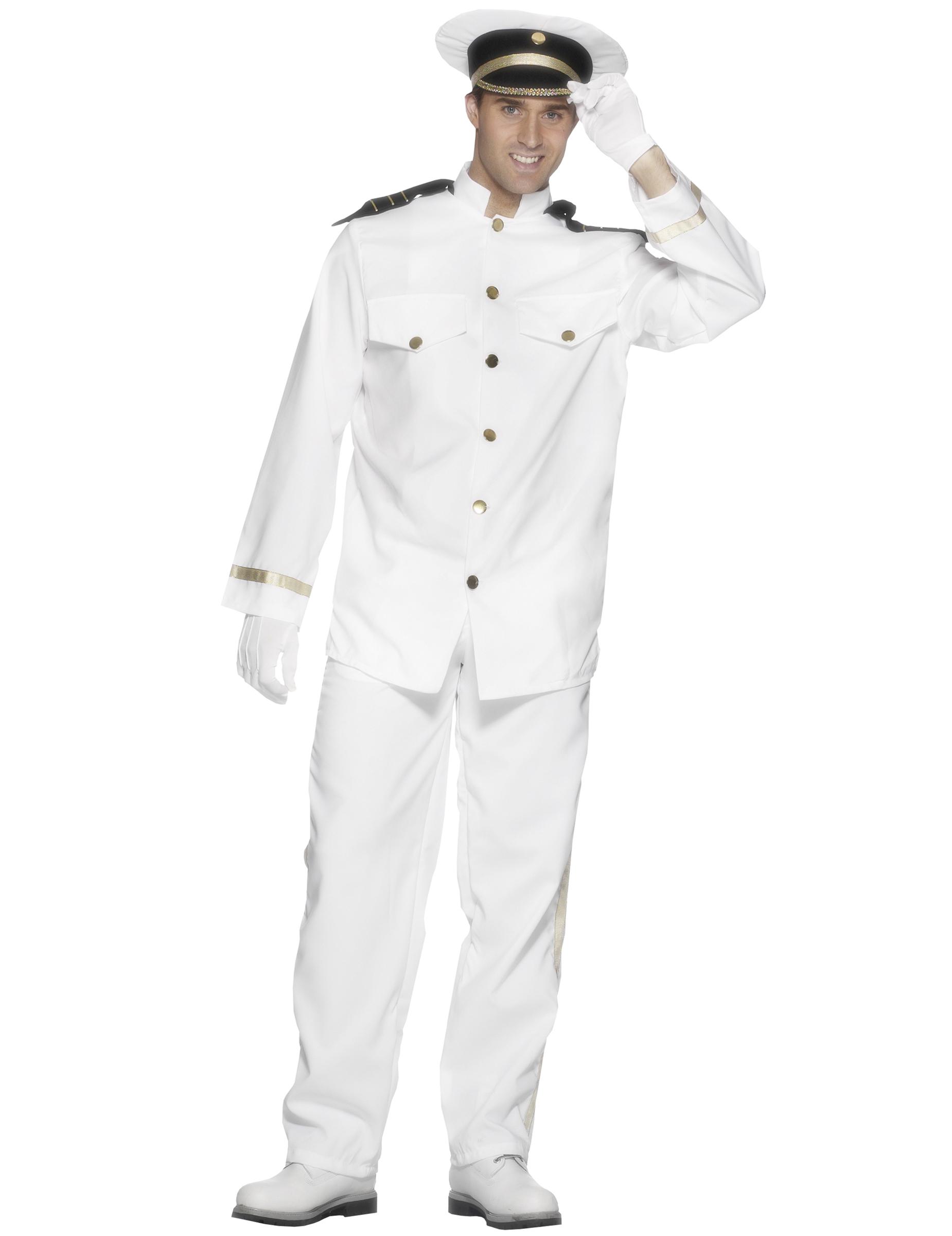 Kapitänskostüm für Herren - L 4906