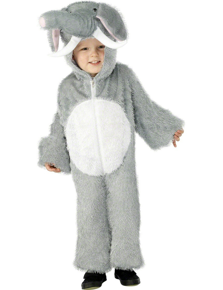 Elefanten-Kostüm für Kinder - 116/128 (4-6 Jahre) 5593