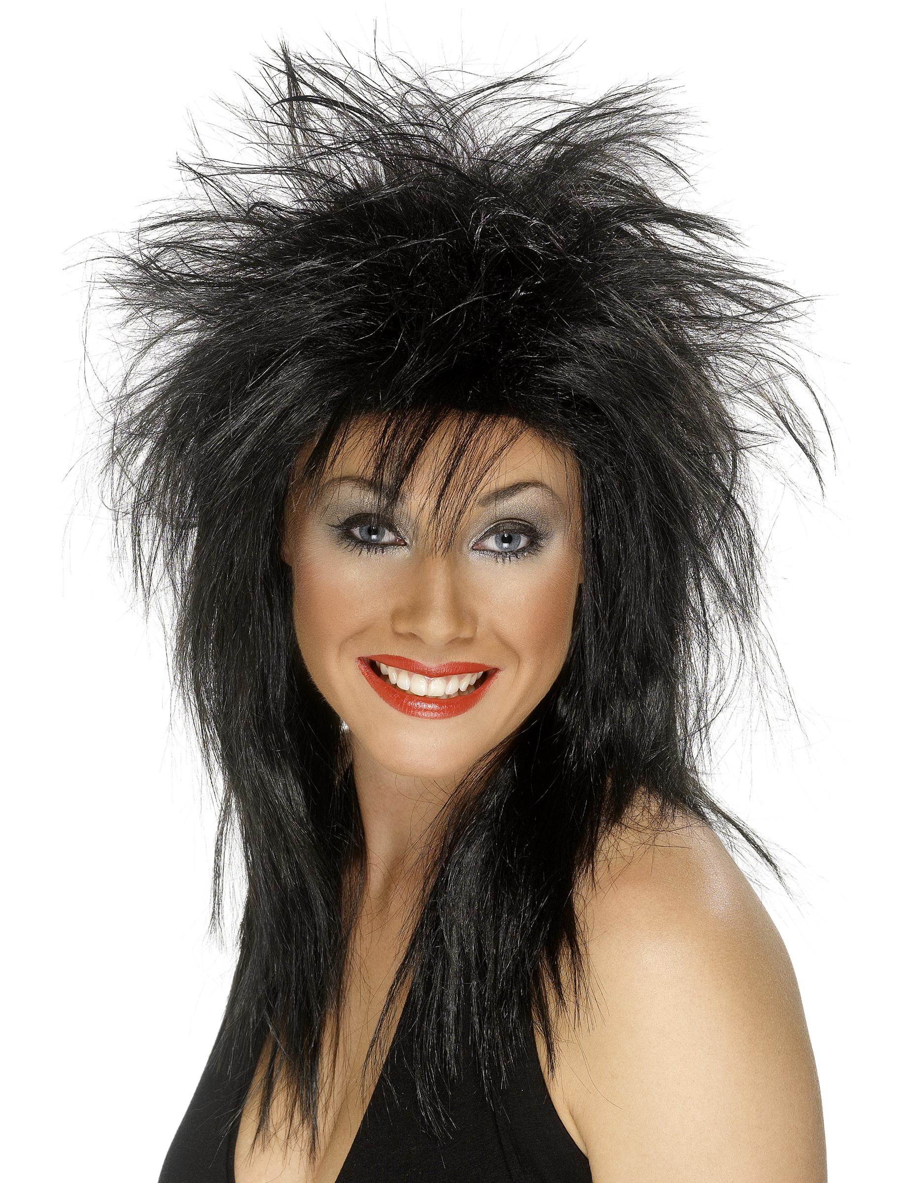 Rocker-Perücke für Damen Halloween 6742
