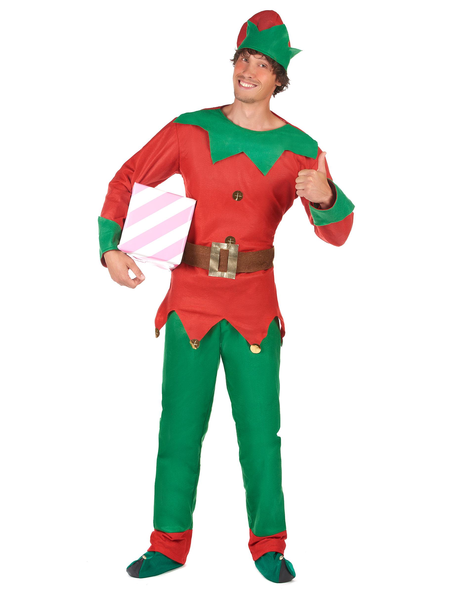 Weihnachtswichtel-Kostüm für Herren - M 13784
