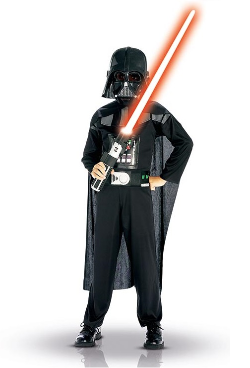 Offizielle Darth Vader-Kostüm für Jungen - 128/140 (8-10 Jahre) 13851