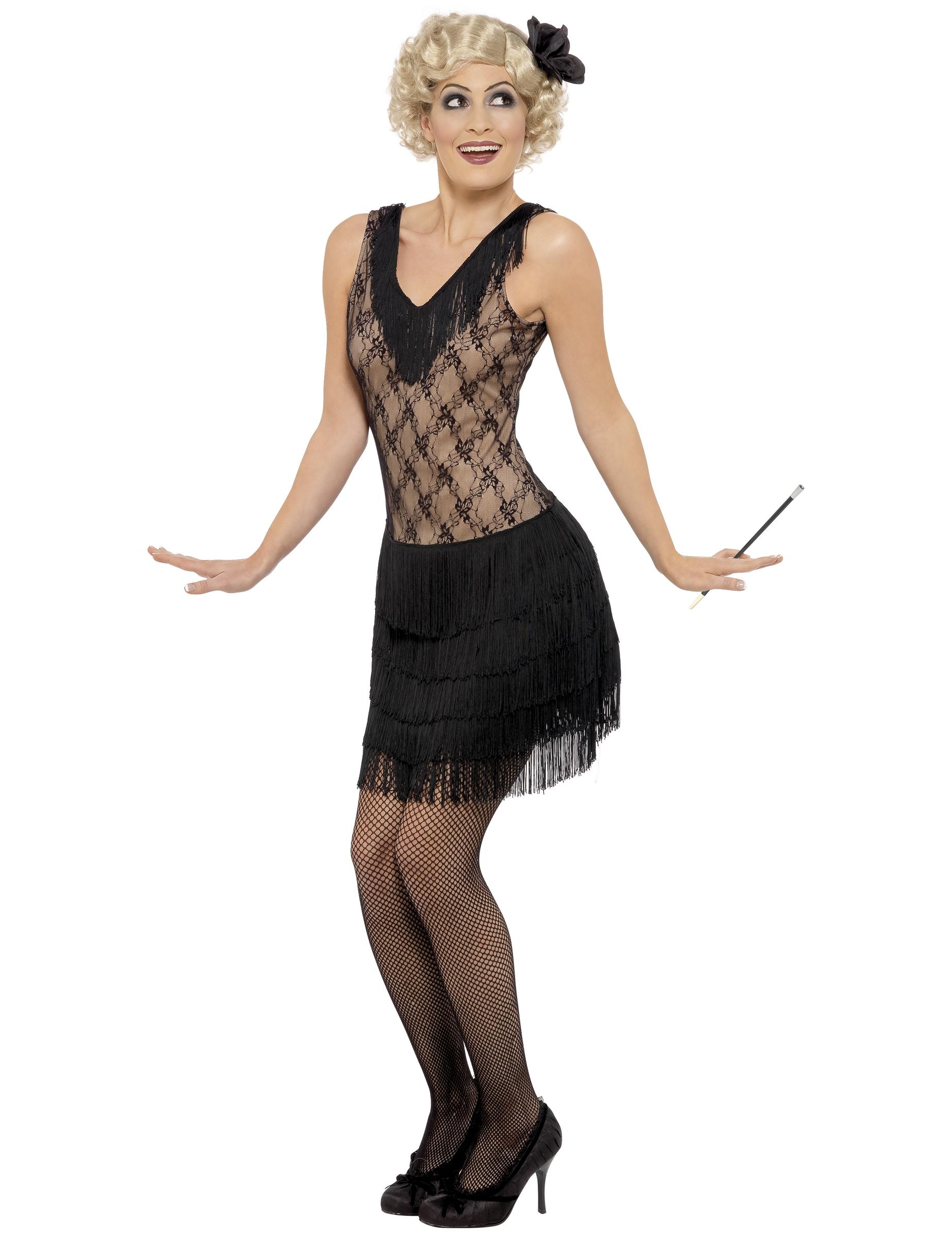 Retro Charleston Kostum Fur Damen Schwarz Kostume Fur Erwachsene