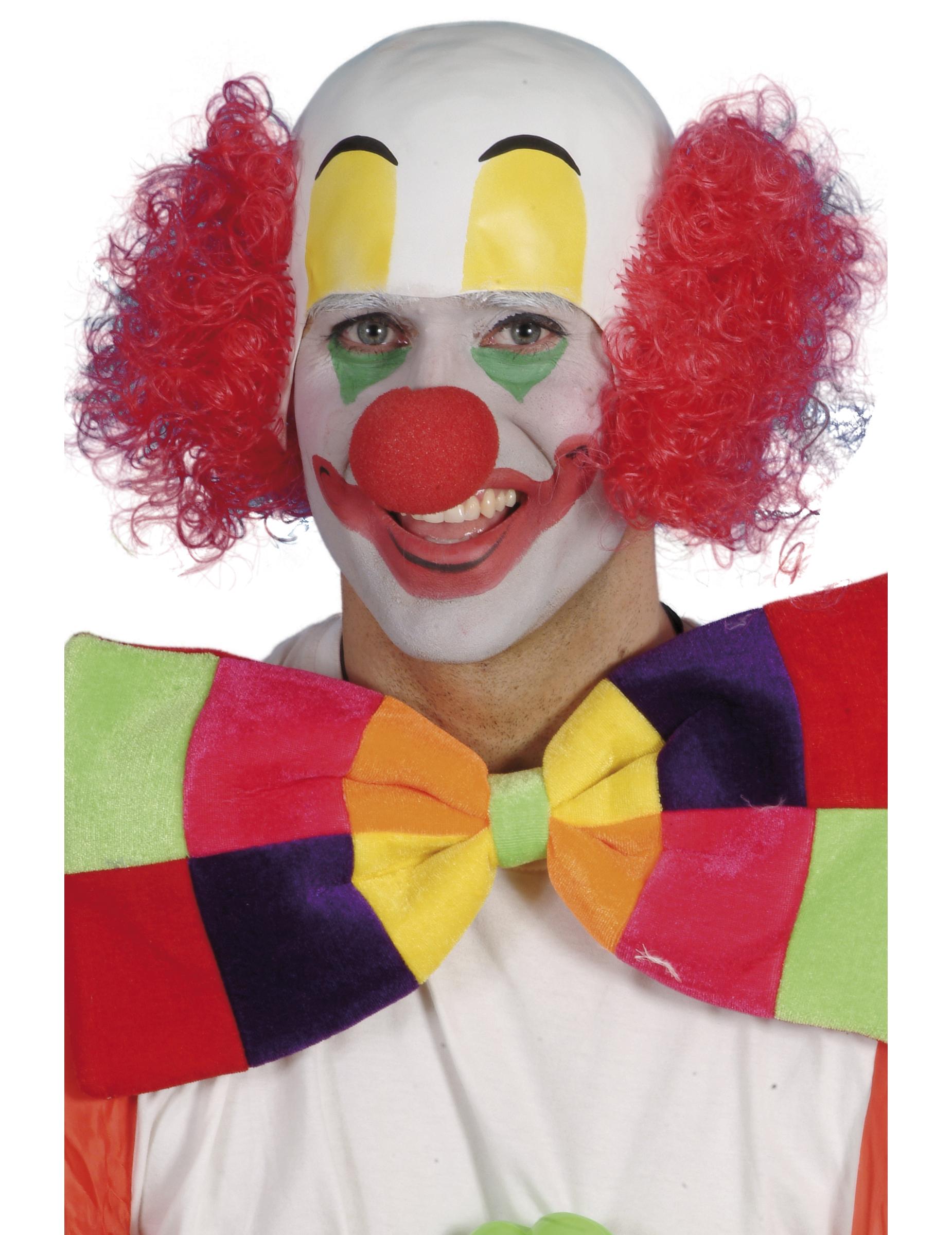 Rote Clownsperücke für Herren 30435