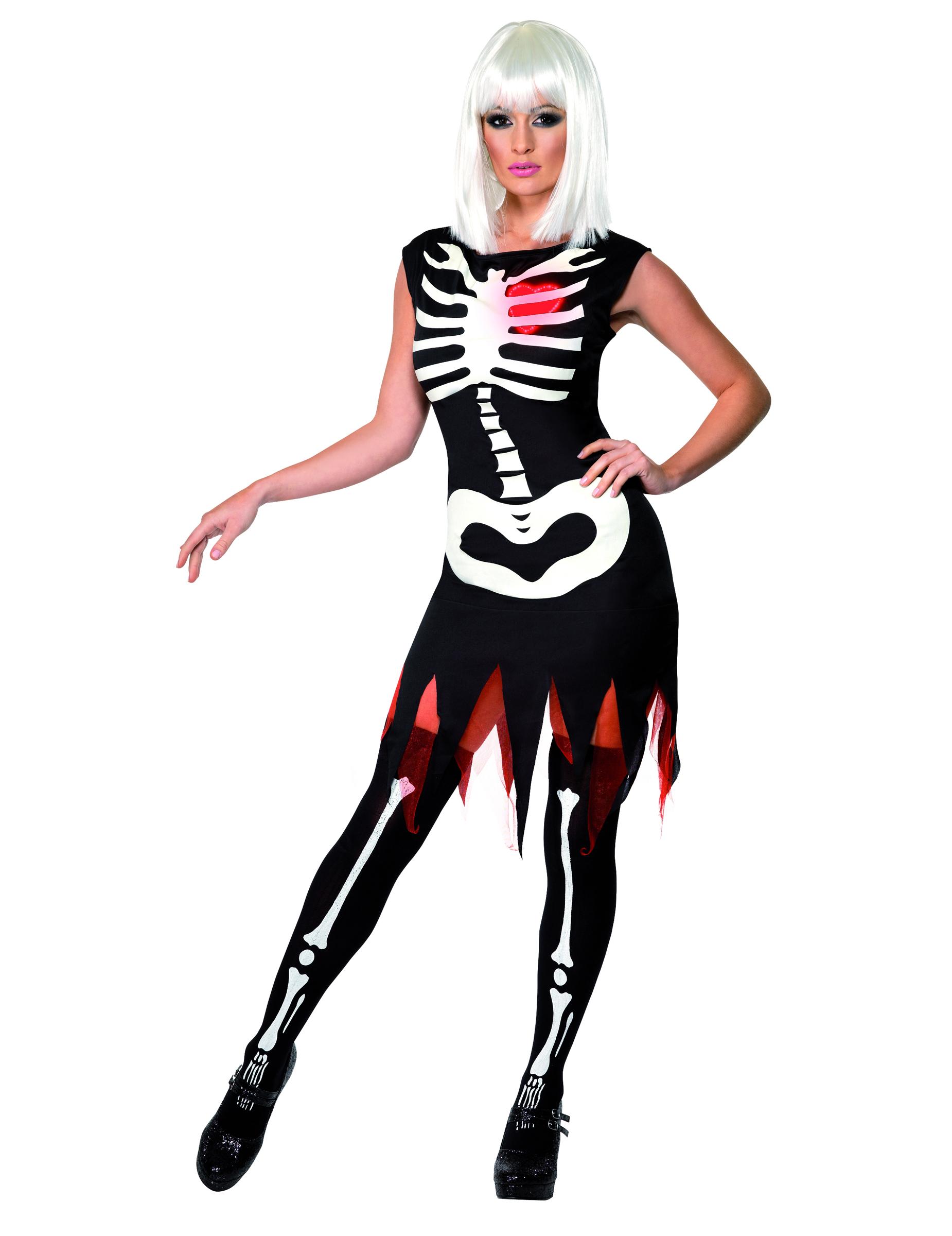skelettkost m halloween f r damen kost me f r erwachsene und g nstige faschingskost me vegaoo. Black Bedroom Furniture Sets. Home Design Ideas