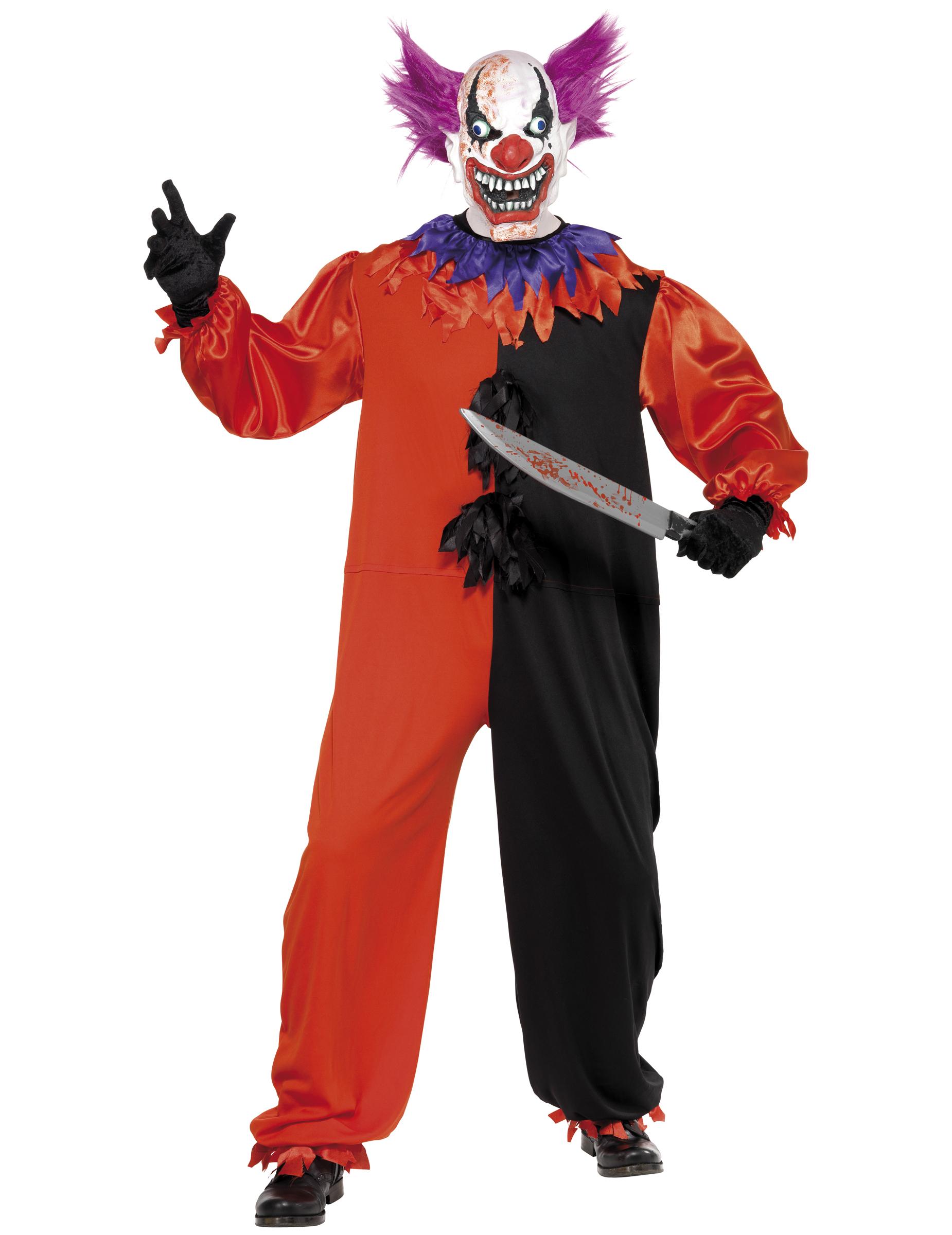 schauerliches clowns kost m halloween f r erwachsene. Black Bedroom Furniture Sets. Home Design Ideas