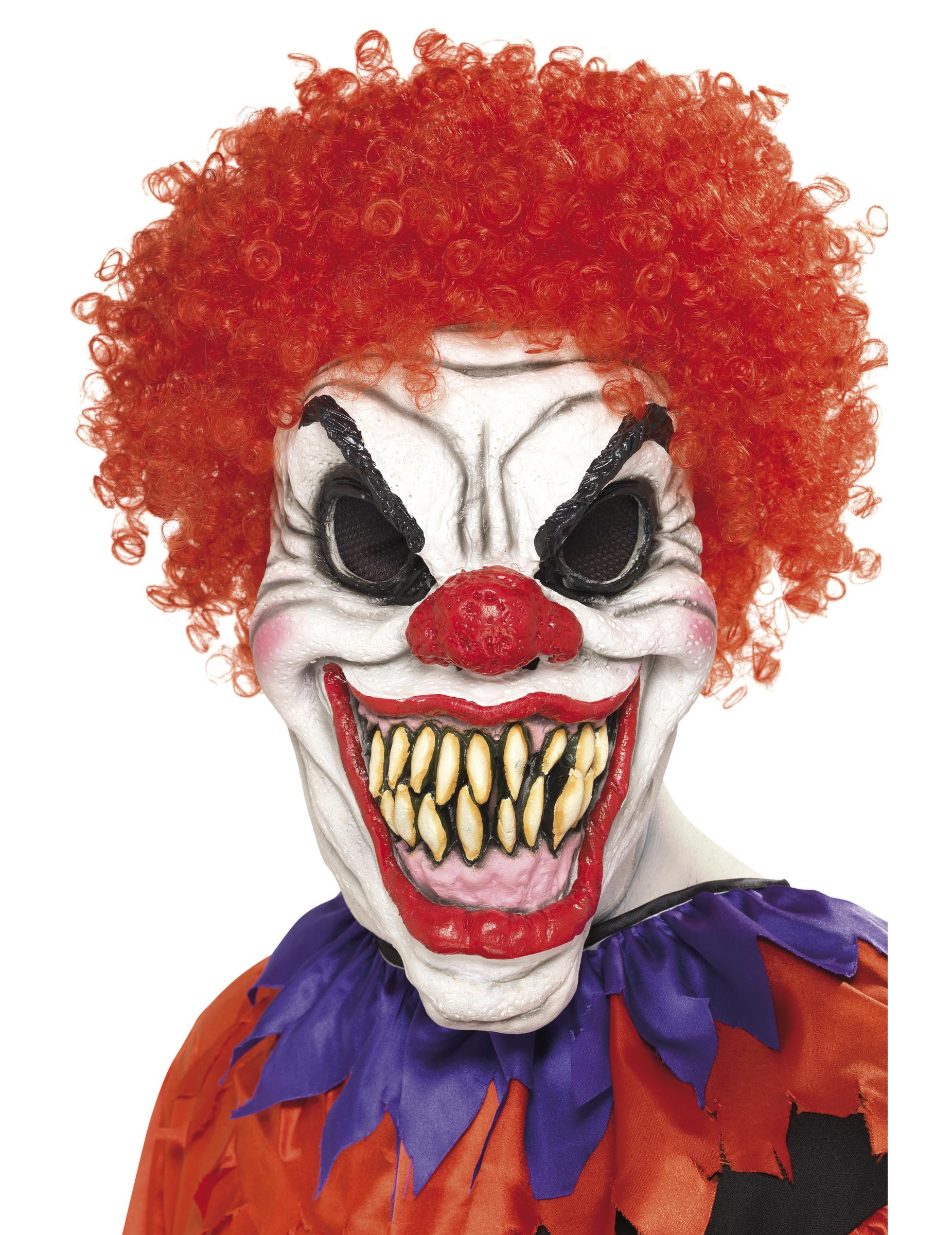 Gruselige Clownsmaske für Halloween 36369