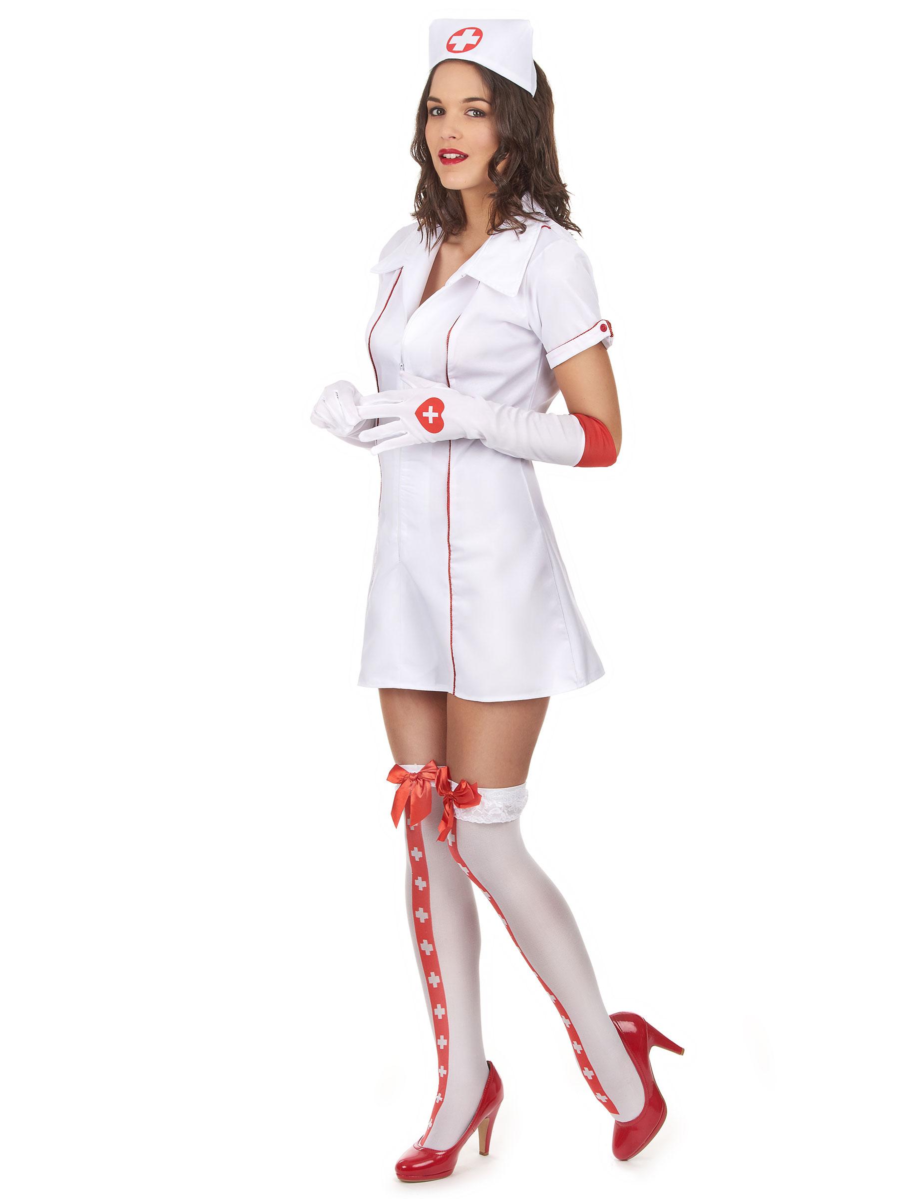 77ddbecdb56f Sexy Krankenschwesterkostüm für Damen weiss-rot  Kostüme für ...