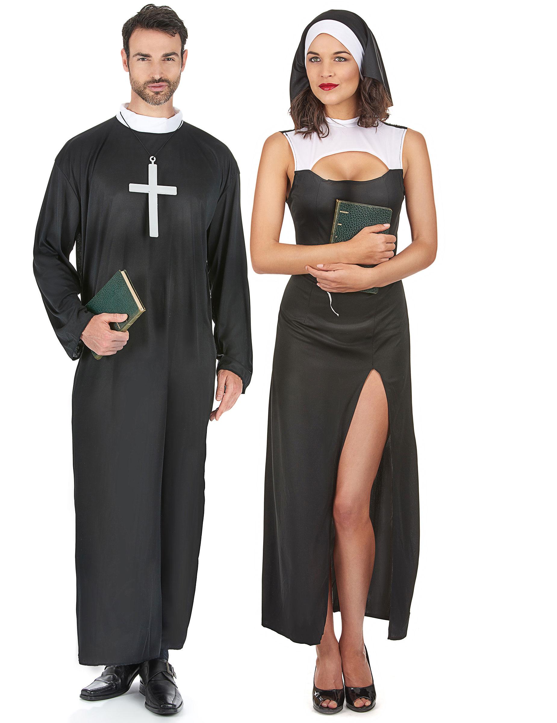 Nonnen-/ Priesterkostüm für Paare: Paarkostüme,und günstige ...