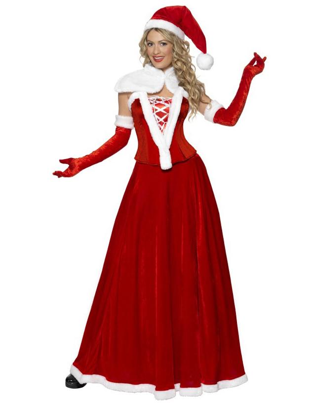 Weihnachts-Frau Kostüm Deluxe für Damen: Kostüme für Erwachsene,und ...