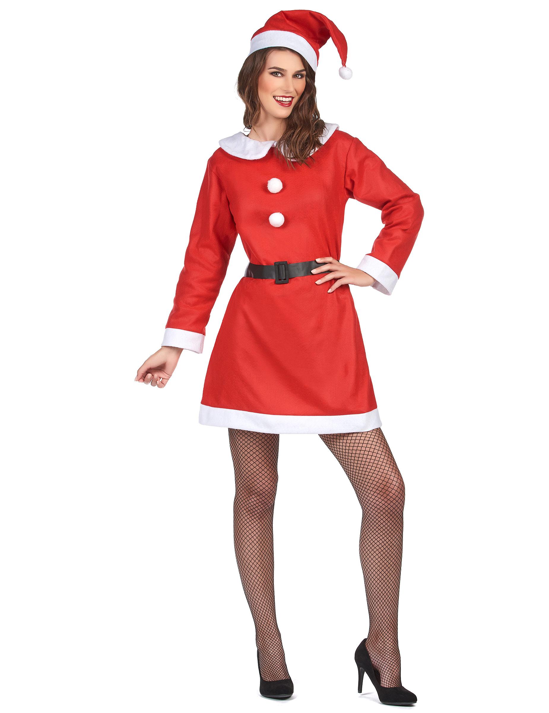 freches Weihnachtsfrau-Kostüm für Damen - S 37918