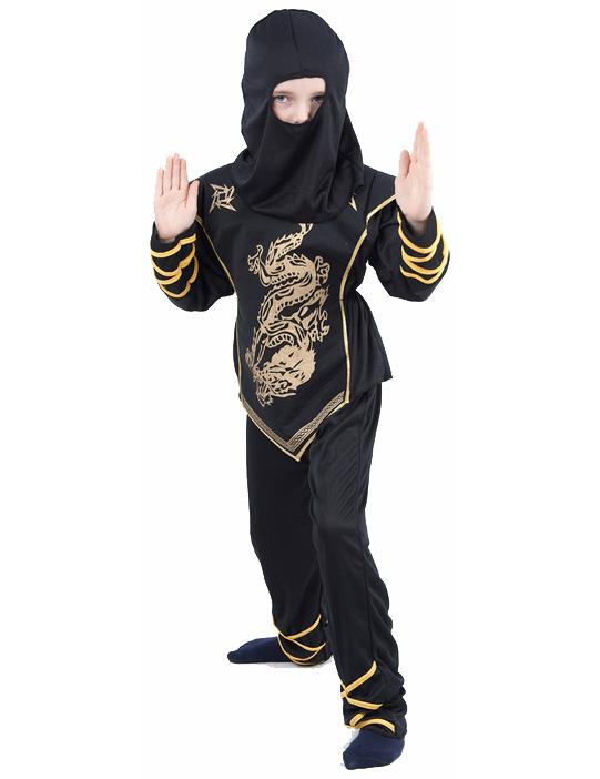 ninja kost m schwarz und gold f r jungen kost me f r kinder und g nstige faschingskost me vegaoo. Black Bedroom Furniture Sets. Home Design Ideas