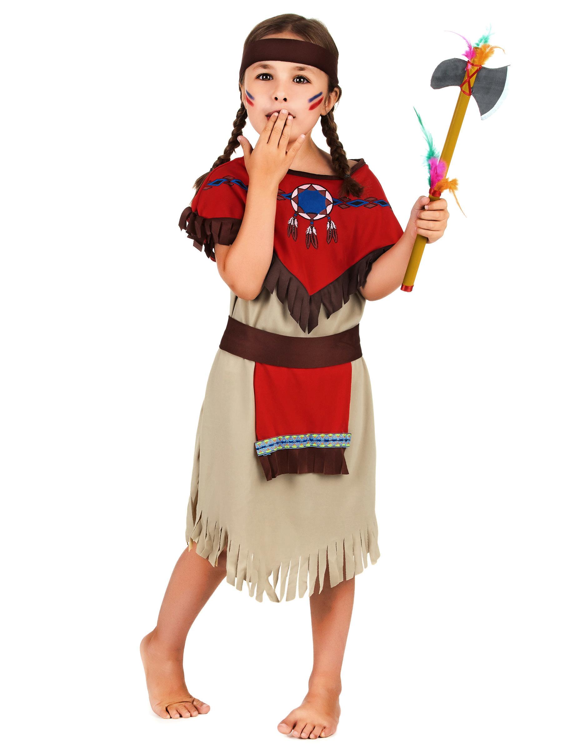 #Indianerinnen-Kinderkostüm für Mädchen bunt#
