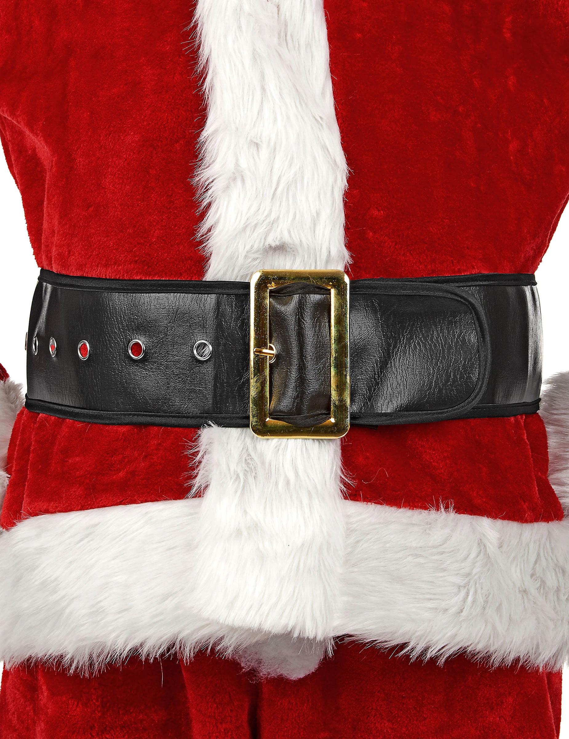 schwarzer weihnachtsmann g rtel f r erwachsene accessoires und g nstige faschingskost me vegaoo. Black Bedroom Furniture Sets. Home Design Ideas
