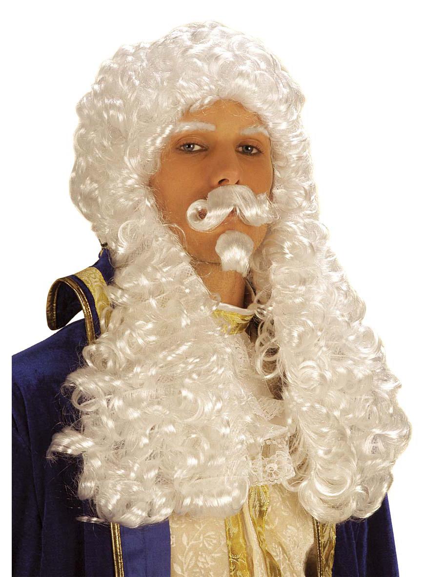 Weiße François 1-Perücke für Herren 39286