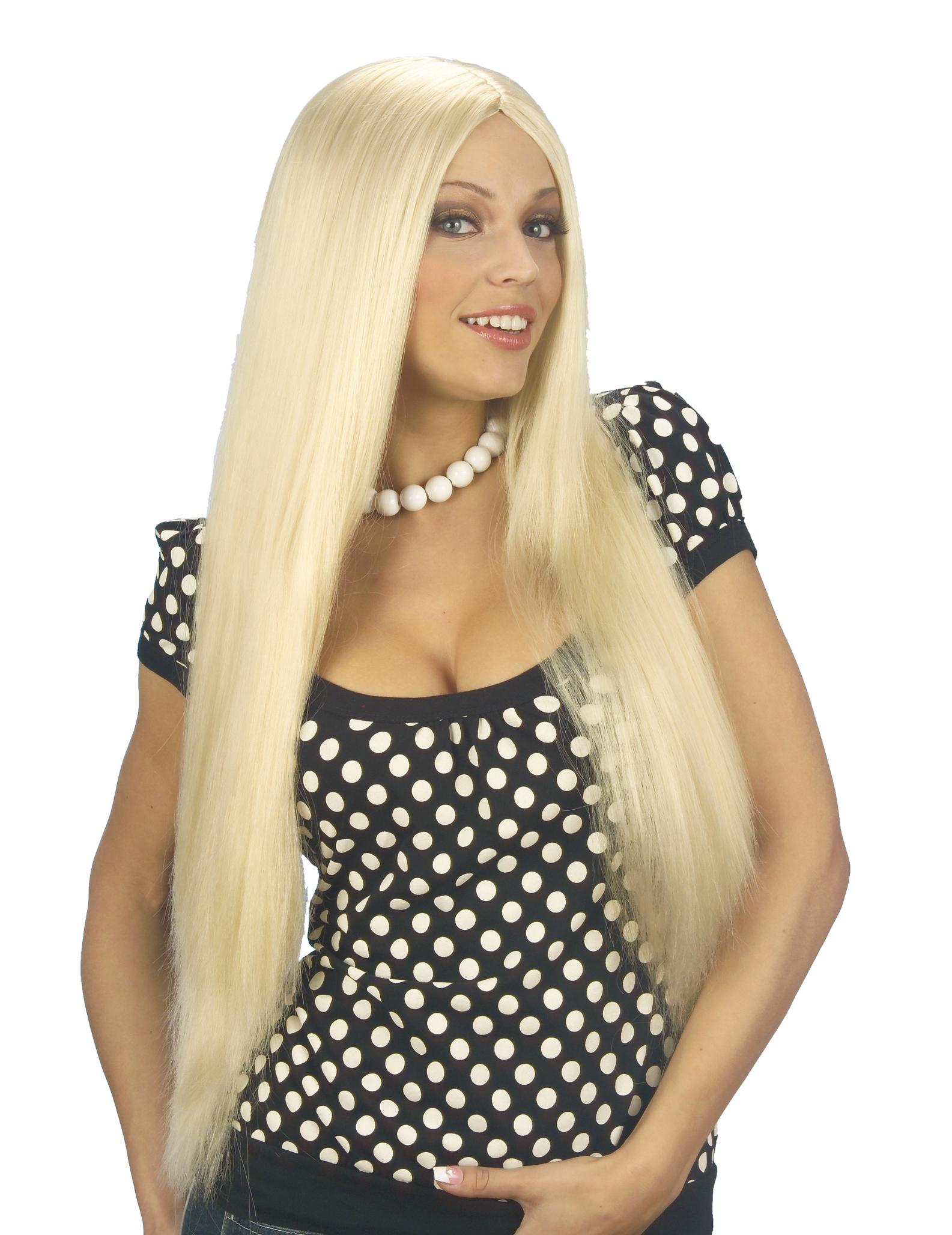 blonde per cke mit langen haaren f r damen per cken und. Black Bedroom Furniture Sets. Home Design Ideas