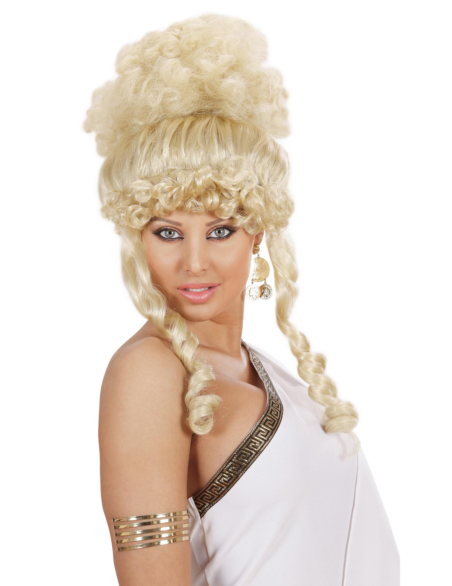 Blonde Göttin-Perücke für Damen. 39357
