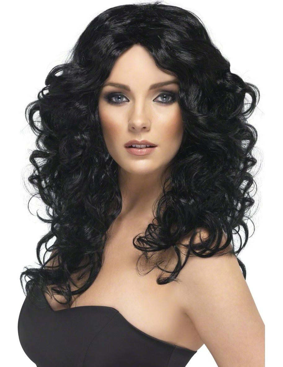 Schwarze Perücke für Damen 39863