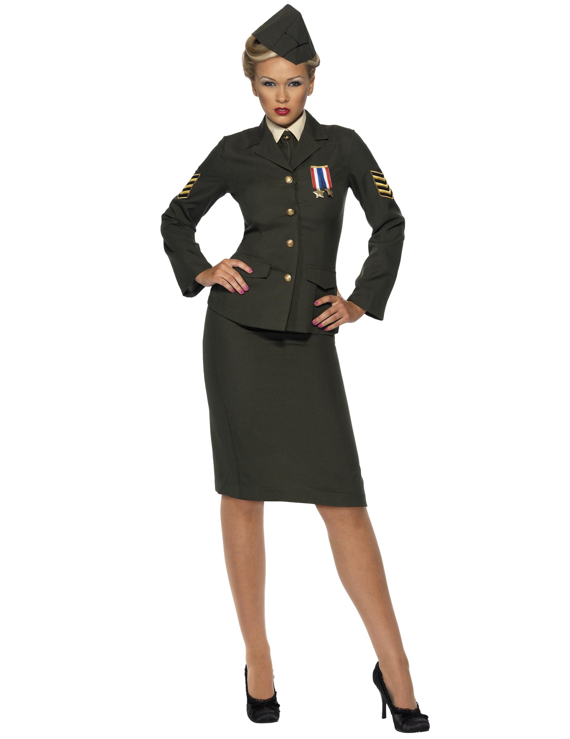 Militärisches Offiziers-Kostüm für Damen - M 39994