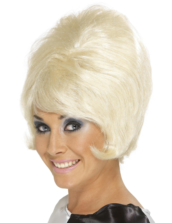 Blonde Perücke Beehive-Frisur für Damen 40008