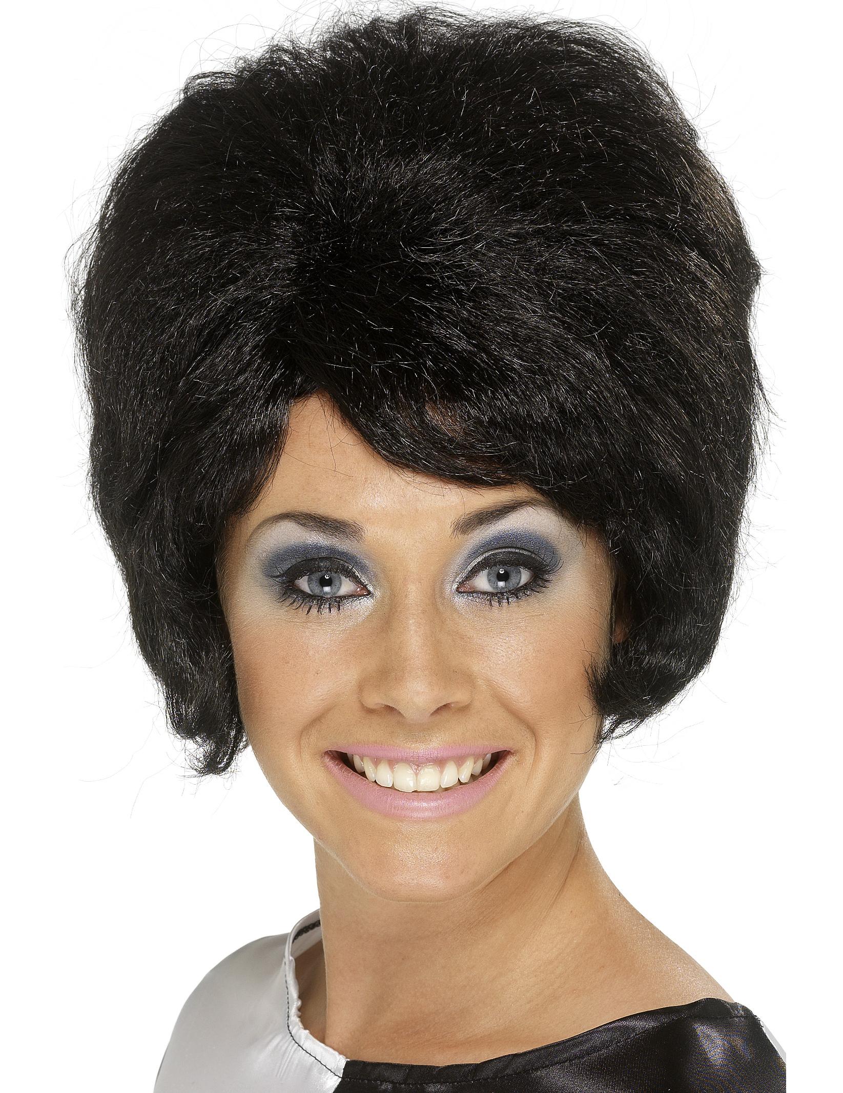 Schwarze Perucke Beehive Frisur Fur Damen