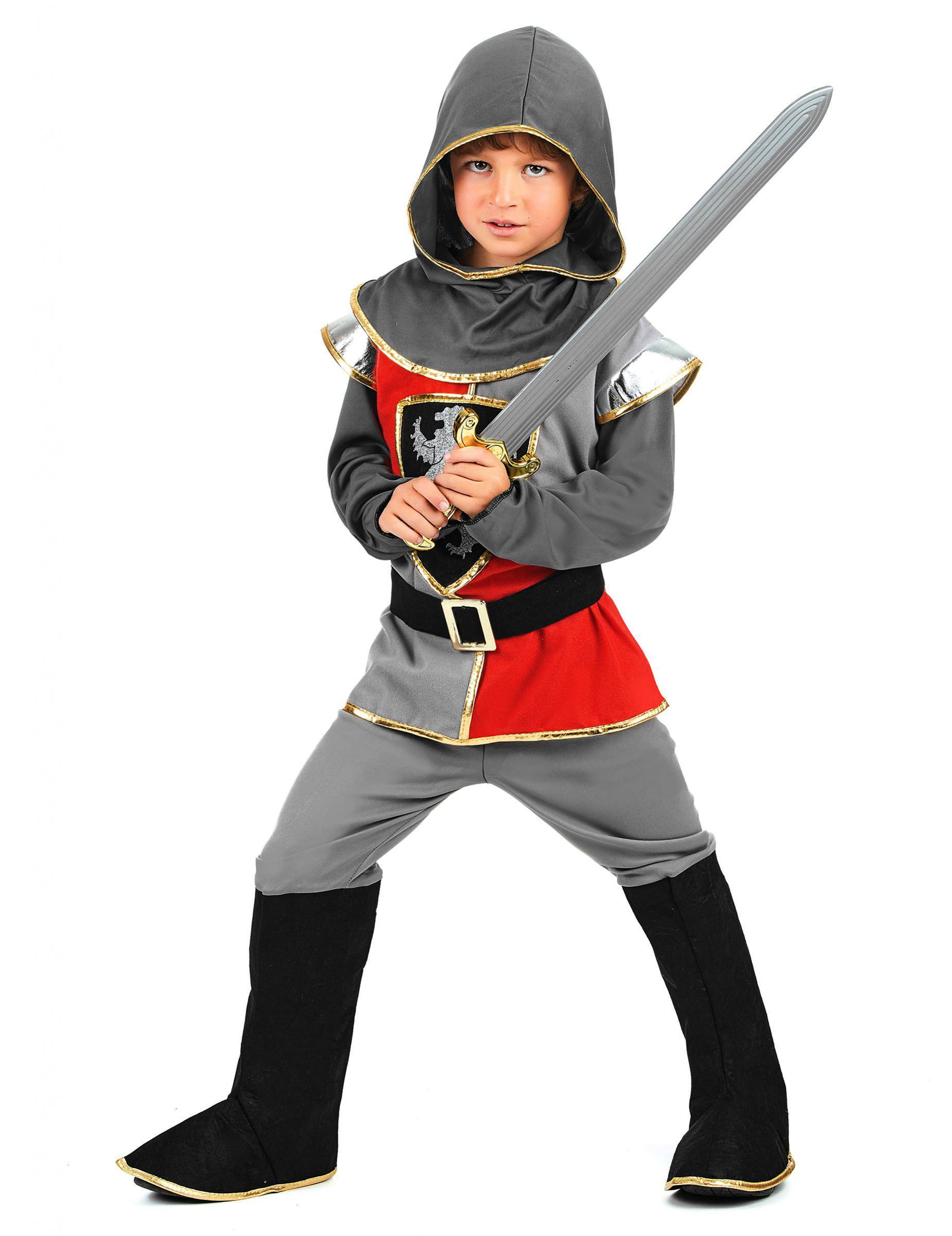 Ritter Jungenkostum Schwarz Grau Rot Kostume Fur Kinder Und
