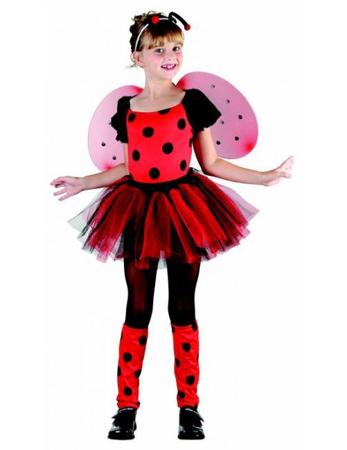 #Marienkäfer-Kostüm für Mädchen rot-schwarz#