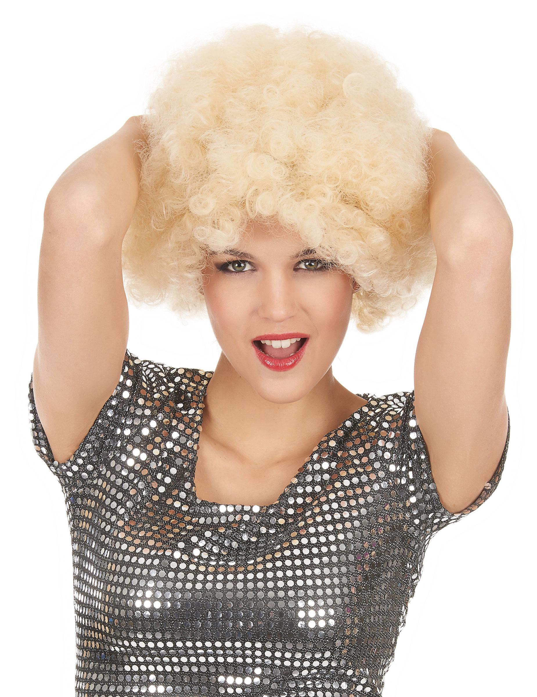 Afro-Perücke blond für Erwachsene 41156