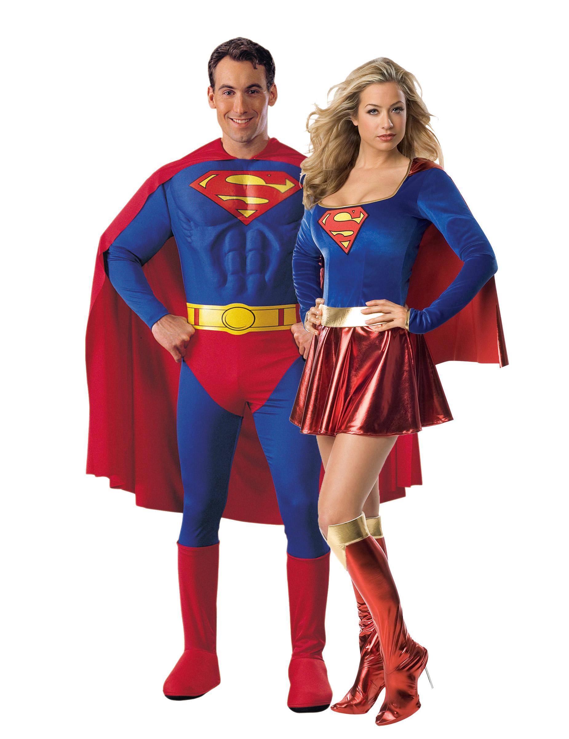Supergirl™ und Superman™-Paarkostüm für Erwachsene: Paarkostüme,und ...