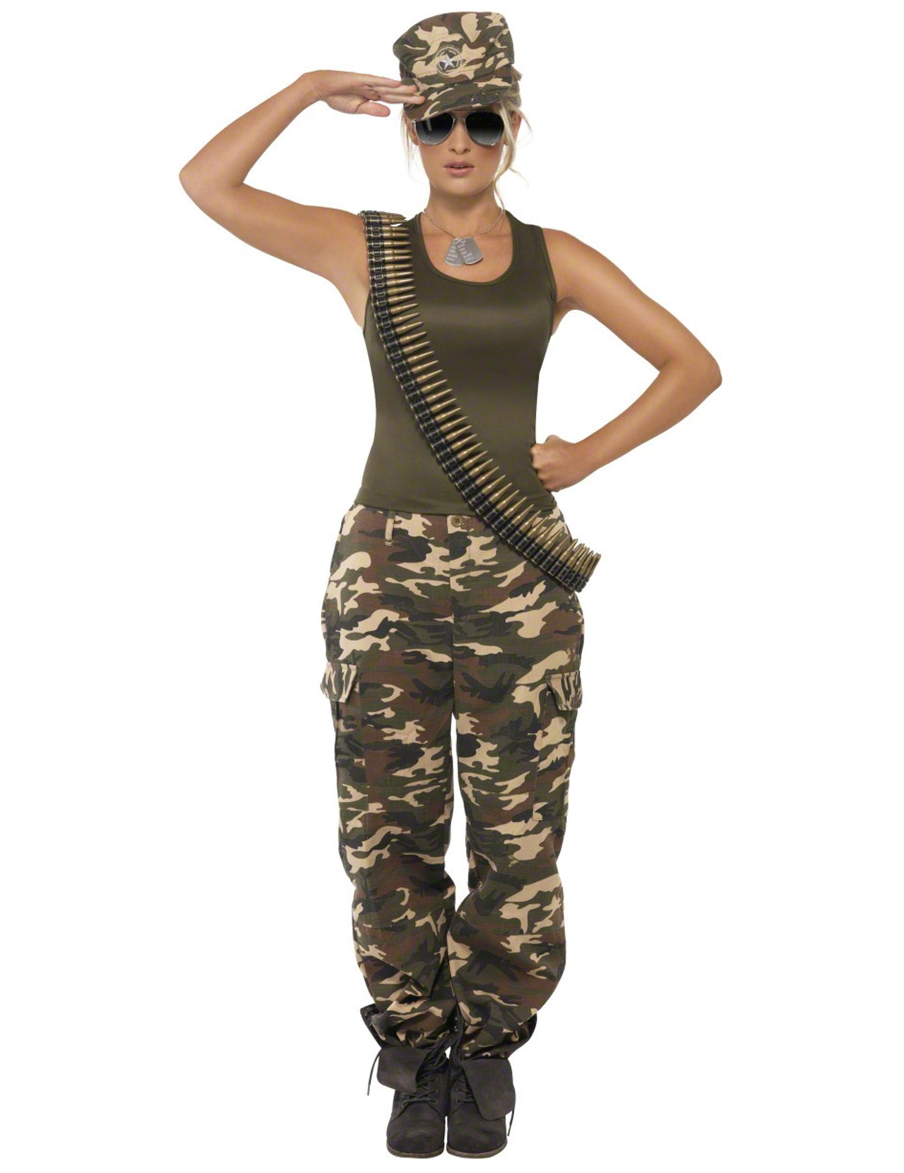Armee-Kostüm für Damen - L 42269