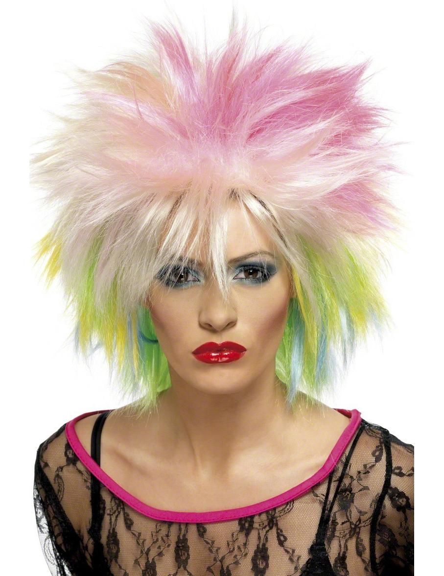 Punk-Perücke kurz für Damen 42349