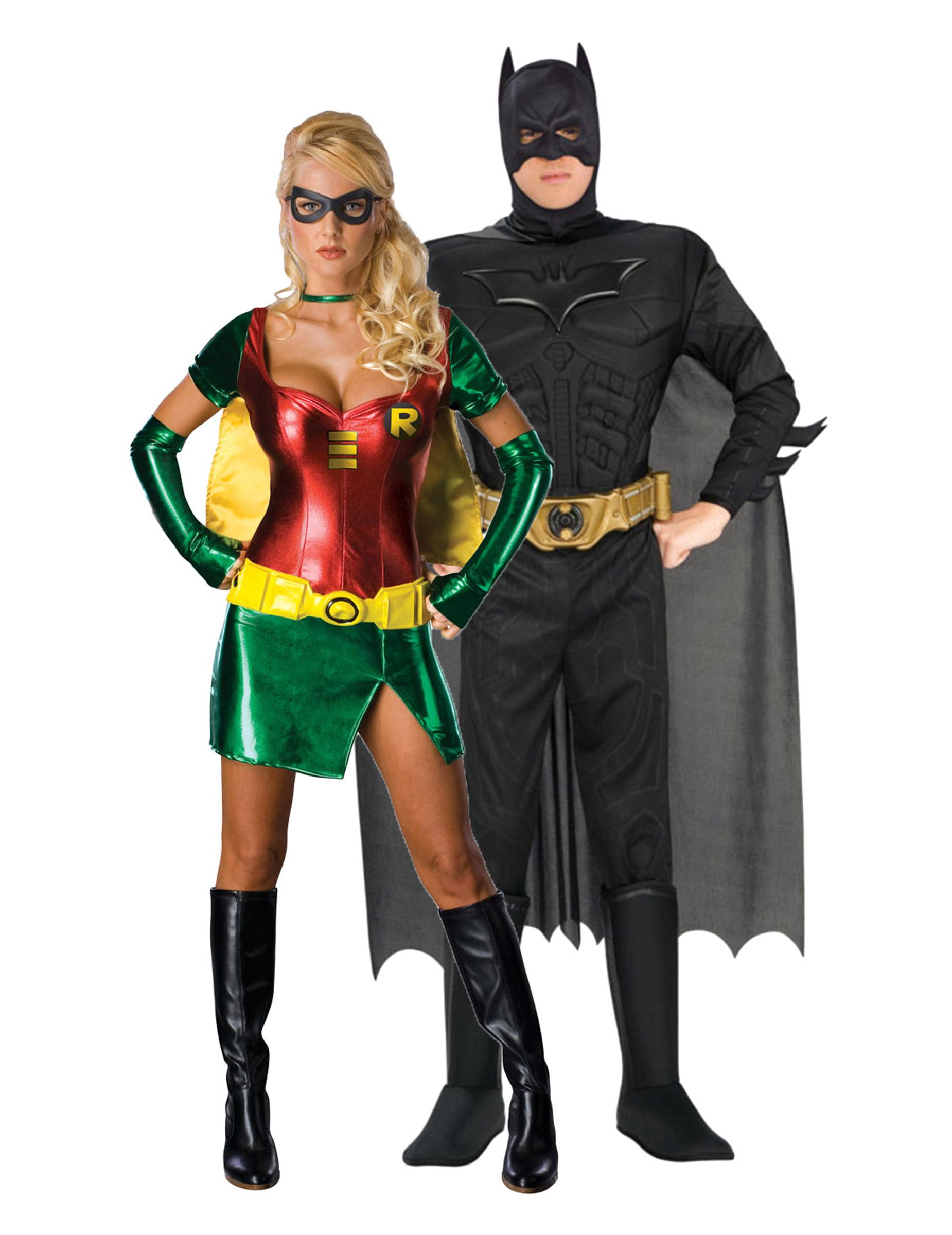 batman und robin kost m f r erwachsene paarkost me und. Black Bedroom Furniture Sets. Home Design Ideas