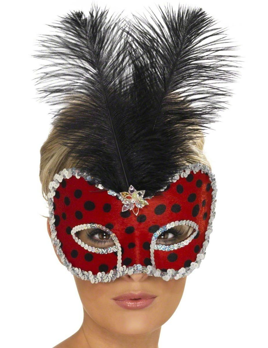 marienk fer halbmaske f r erwachsene masken und g nstige. Black Bedroom Furniture Sets. Home Design Ideas