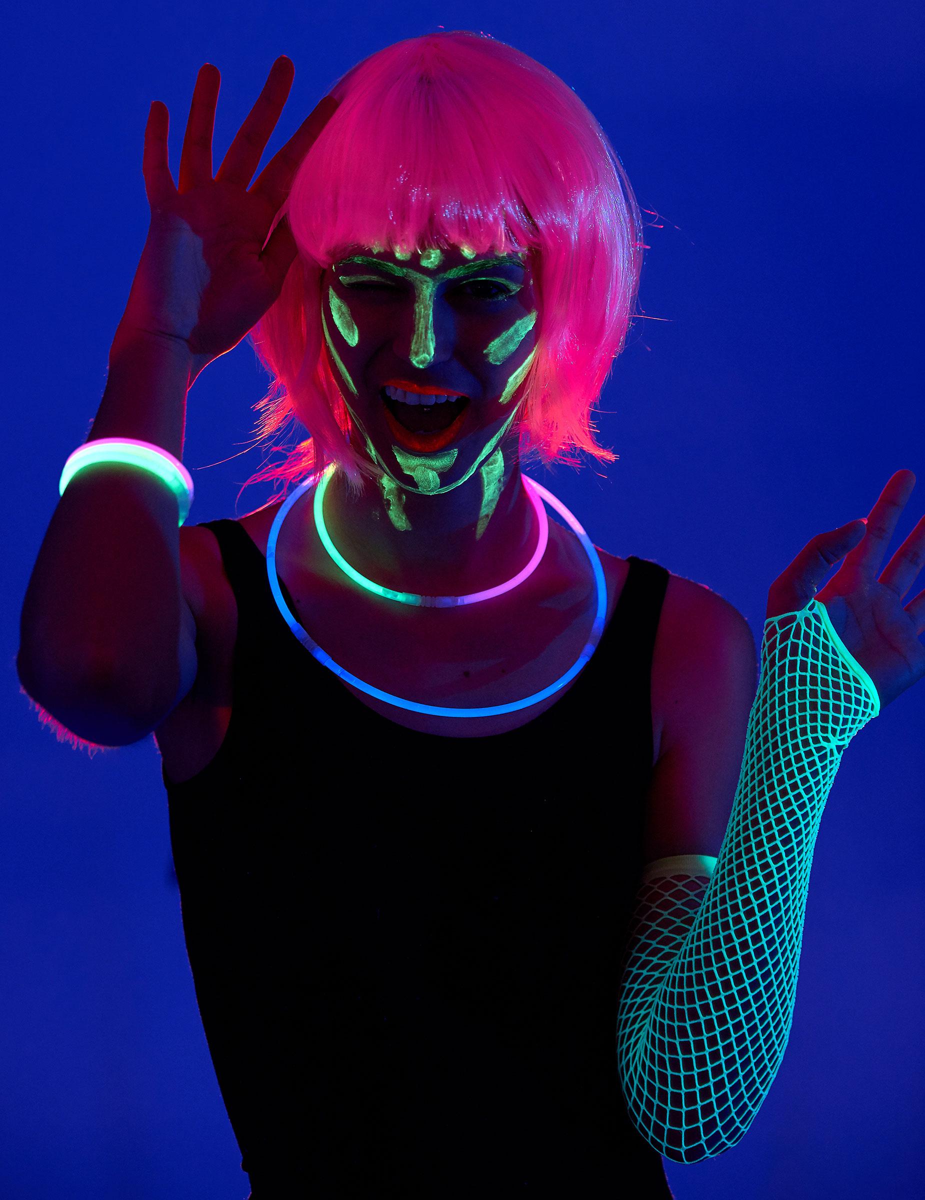 fluoreszierende schminke halloween schminke und g nstige faschingskost me vegaoo. Black Bedroom Furniture Sets. Home Design Ideas