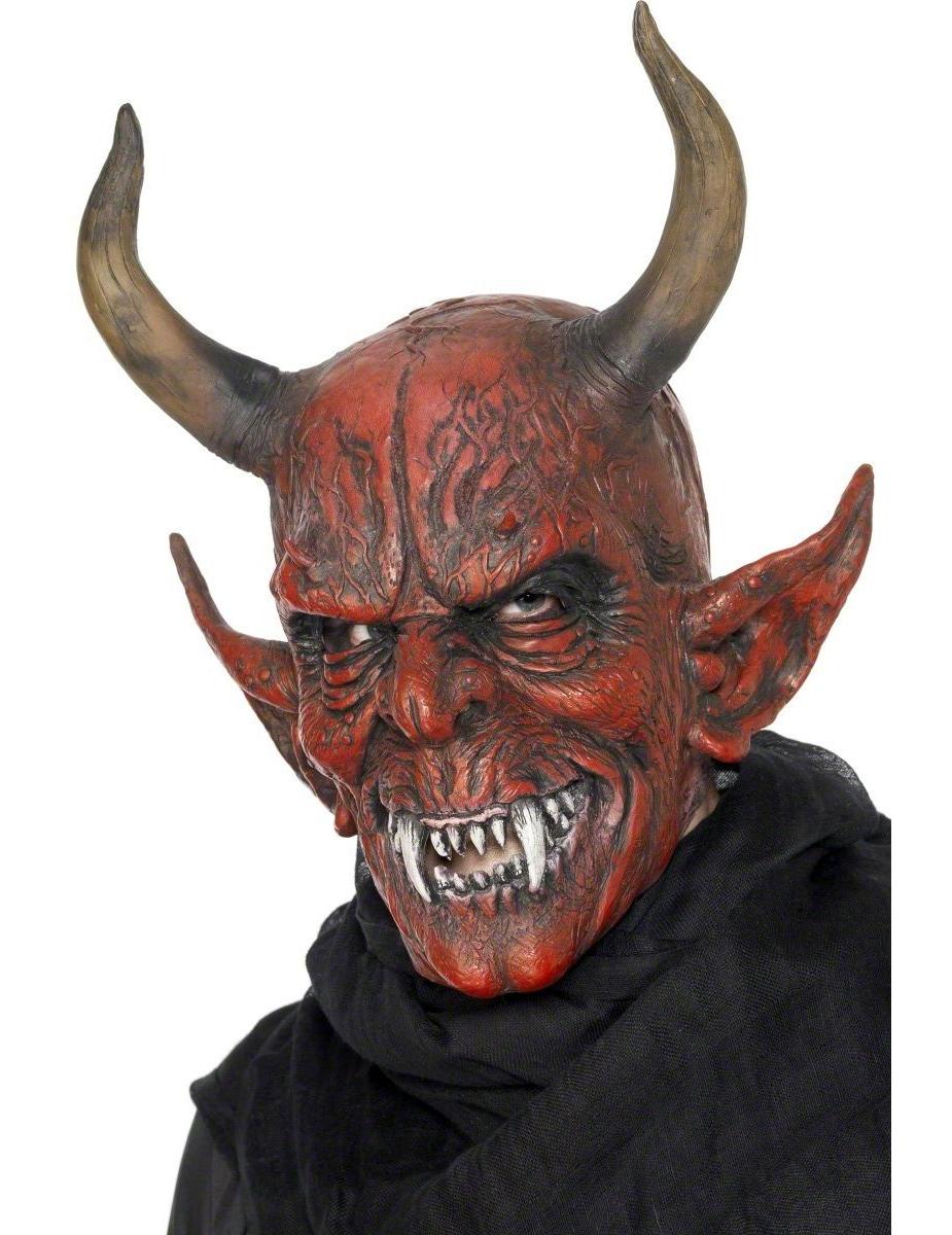 Dämonenmaske Halloween für Erwachsene 43297