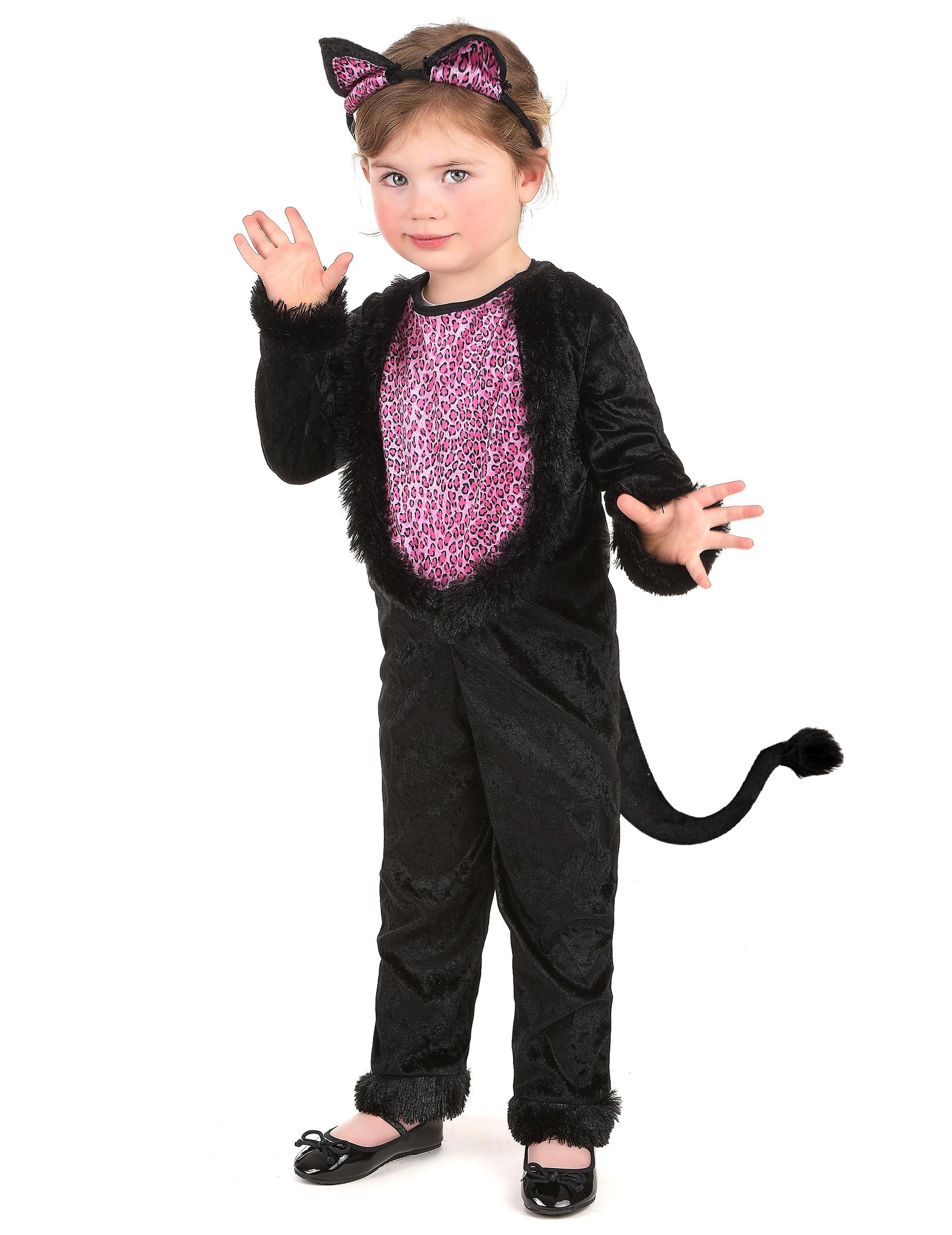 Schwarze Katze Kinderkostum