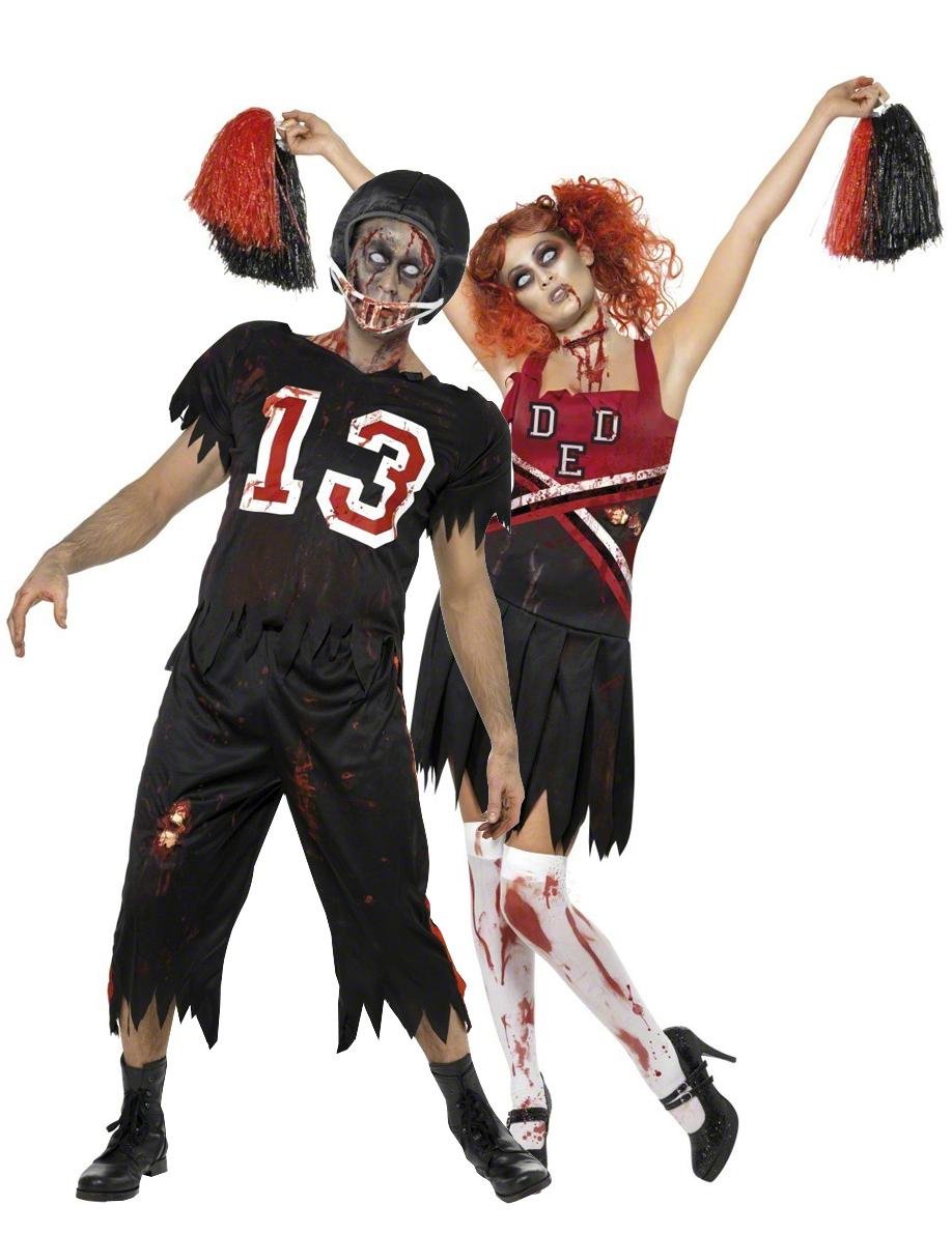 zombiekost m footballer cheerleader halloween f r paare. Black Bedroom Furniture Sets. Home Design Ideas