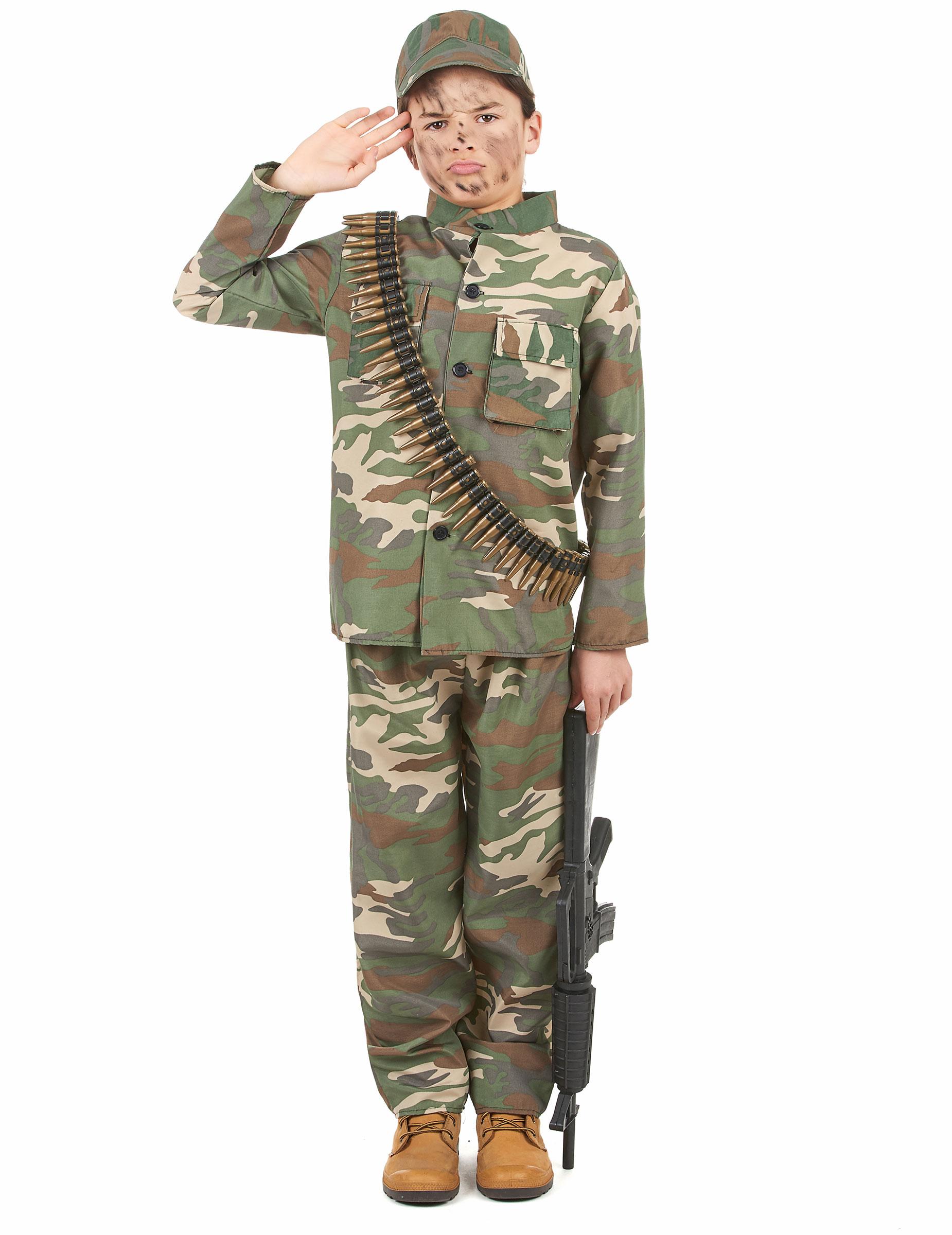 Soldaten Kinderkostüm - 122/134 (7-9 Jahre) 43689