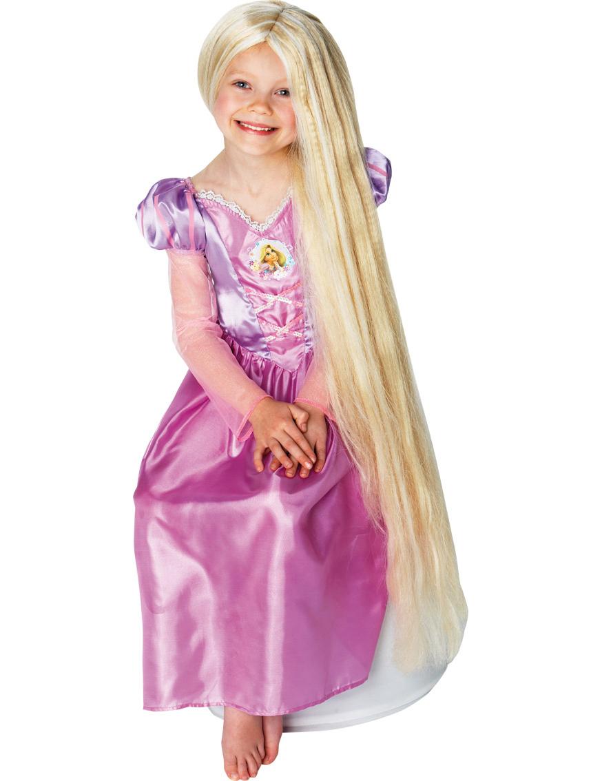 Lange Rapunzel Perücke für Kinder 80 cm blond 44611