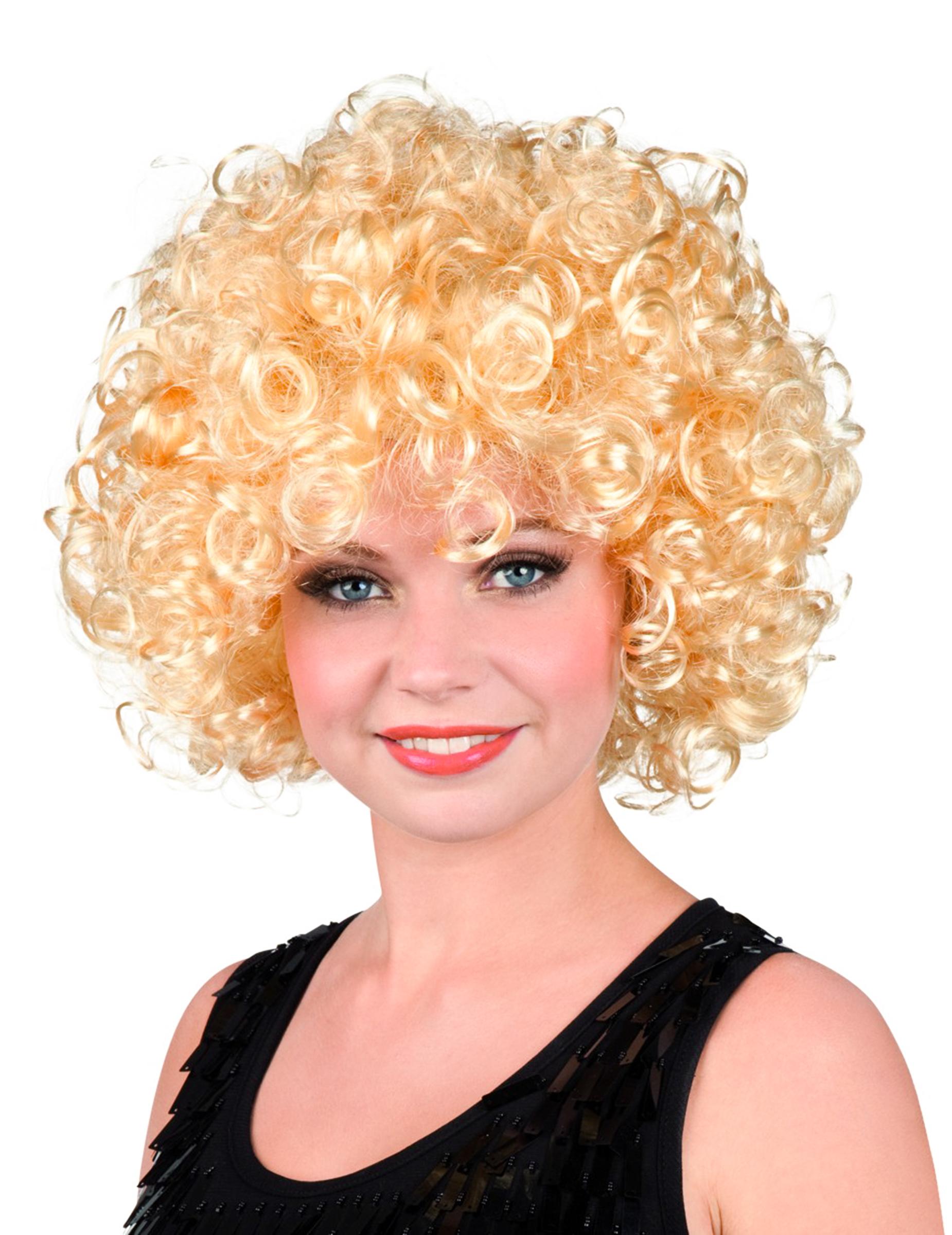 Perücke blond mit Locken für Damen 45783
