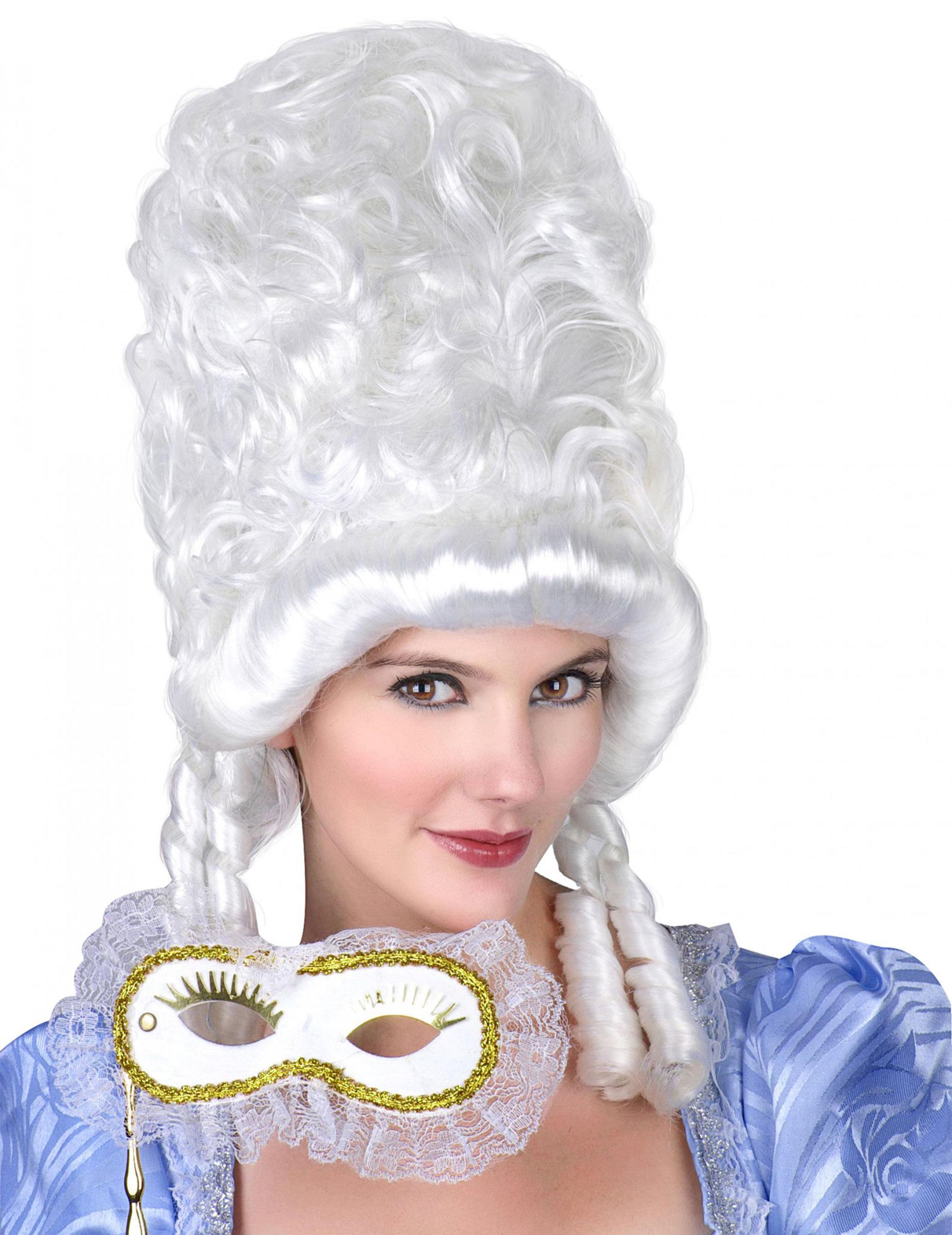 Prinzessinnen Perücke barock weiß 46088