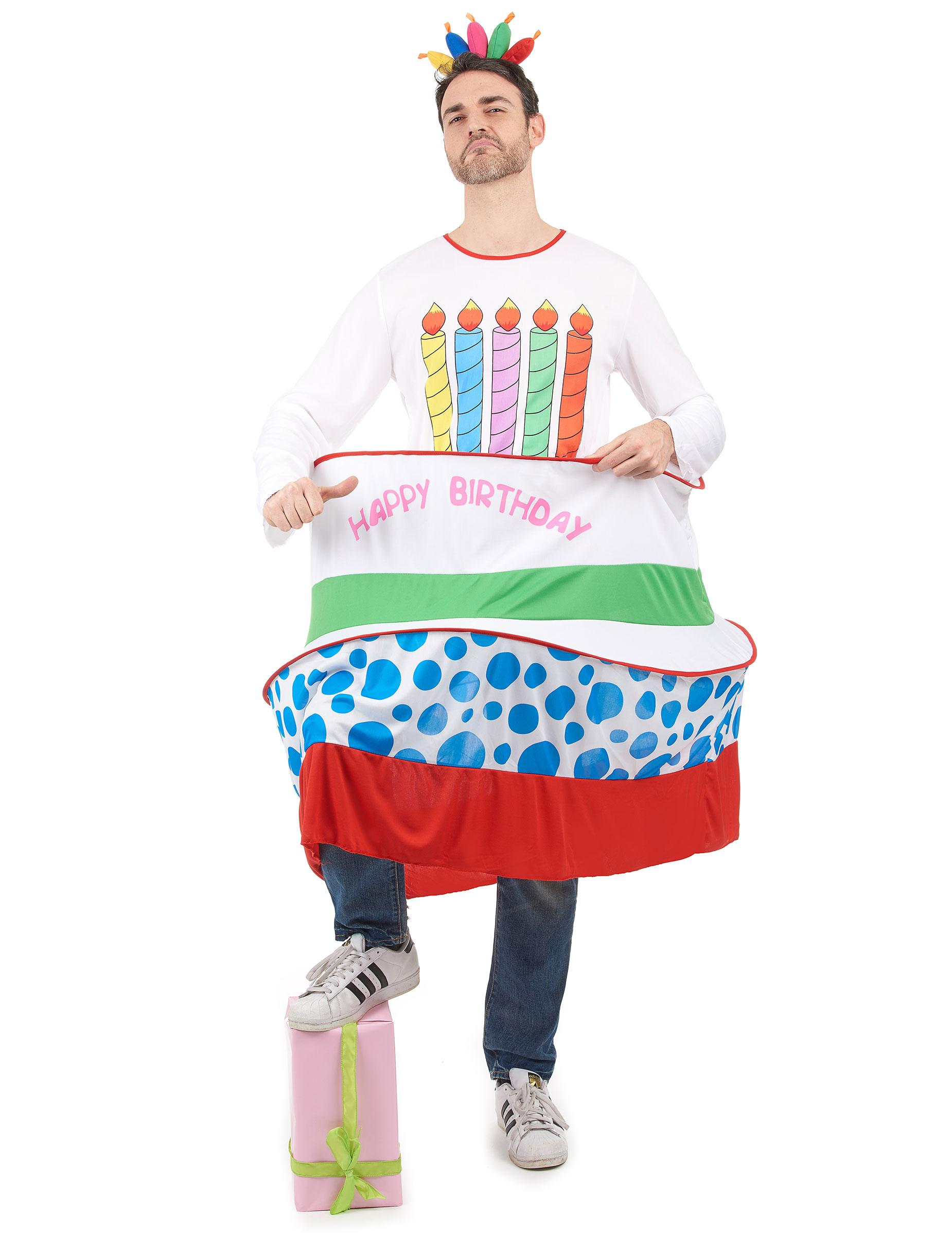 Geburtstagskuchen-Kostüm für Herren 46121