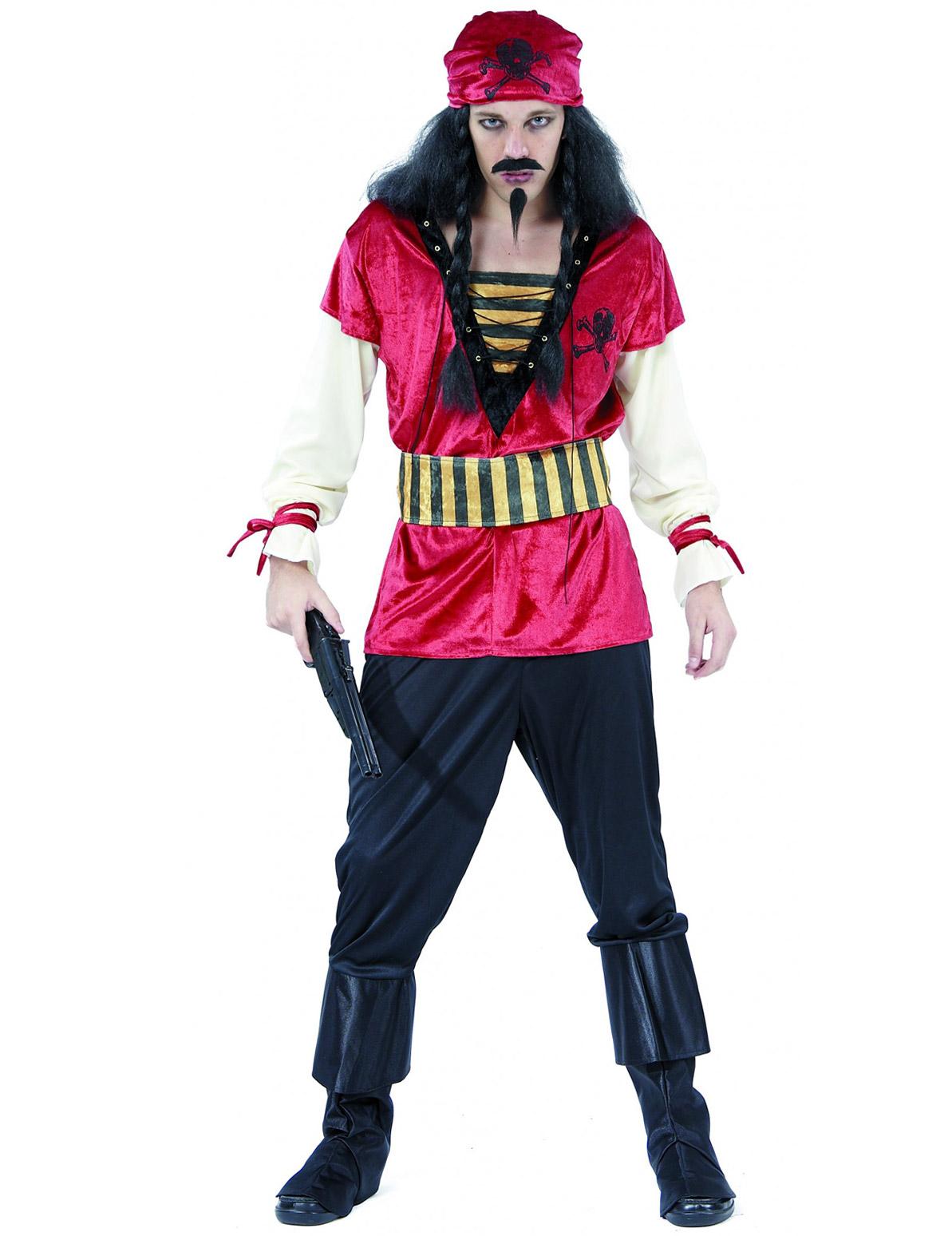 Piraten-Kostüm für Herren mit Bandana bunt - M 46169