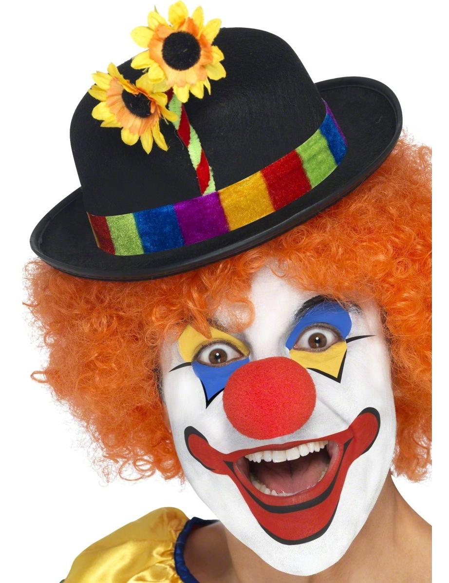 Clown hut melone f r clown kost me - Clown schminken bilder ...