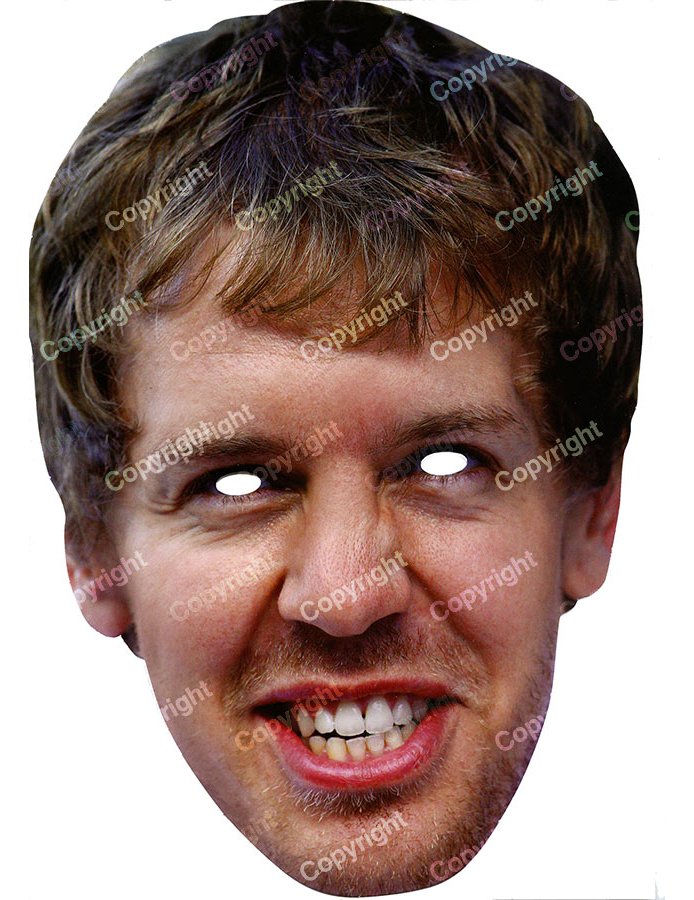 Sebastian Vettel - Maske: Masken,und günstige Faschingskostüme - Vegaoo