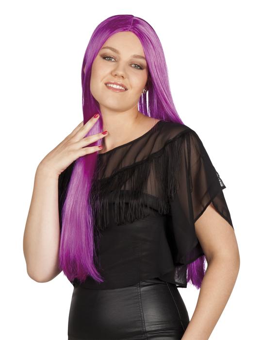 langhaarper cke violett f r damen per cken und g nstige faschingskost me vegaoo. Black Bedroom Furniture Sets. Home Design Ideas